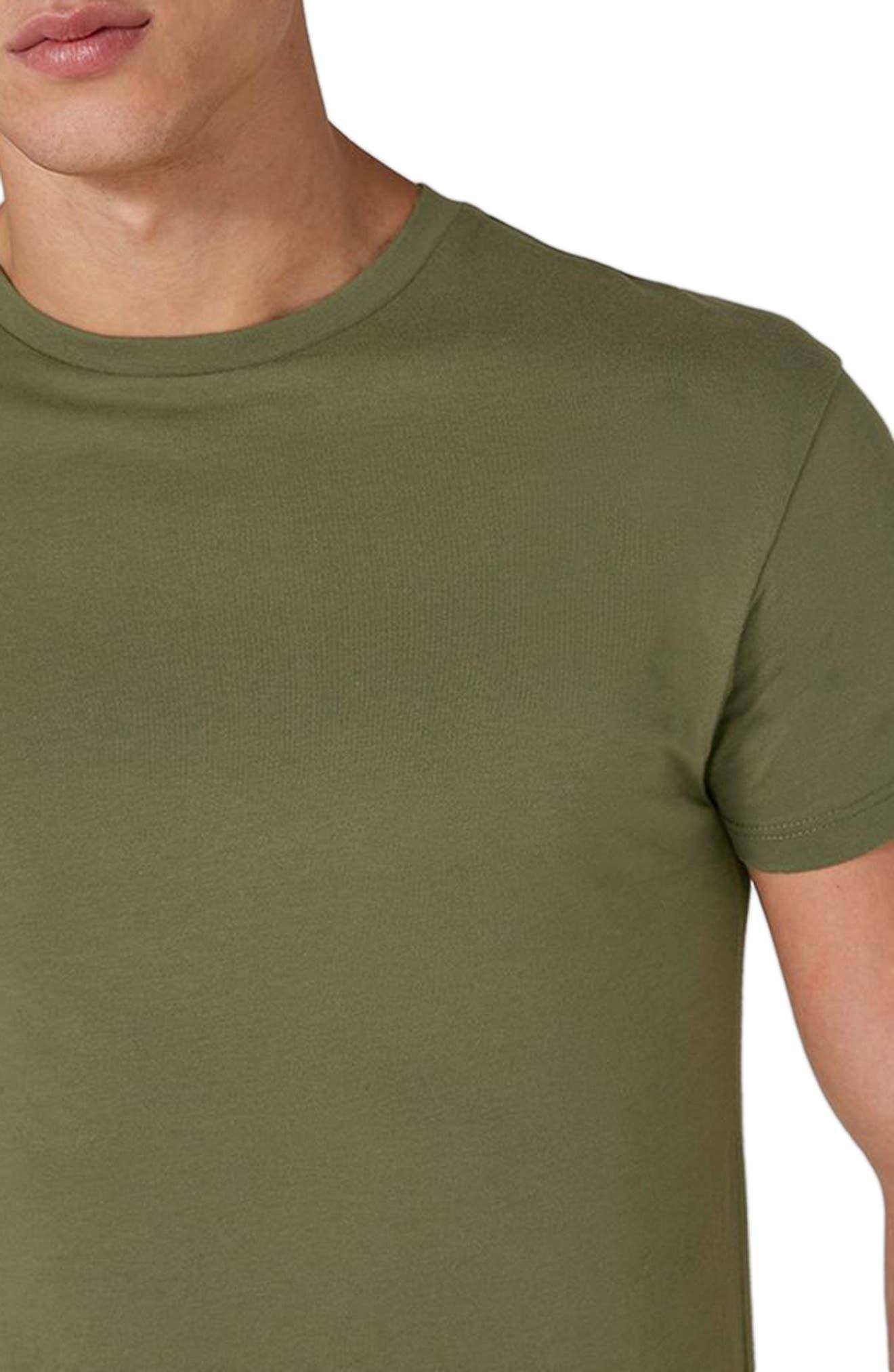 Longline T-Shirt,                             Alternate thumbnail 3, color,                             Olive