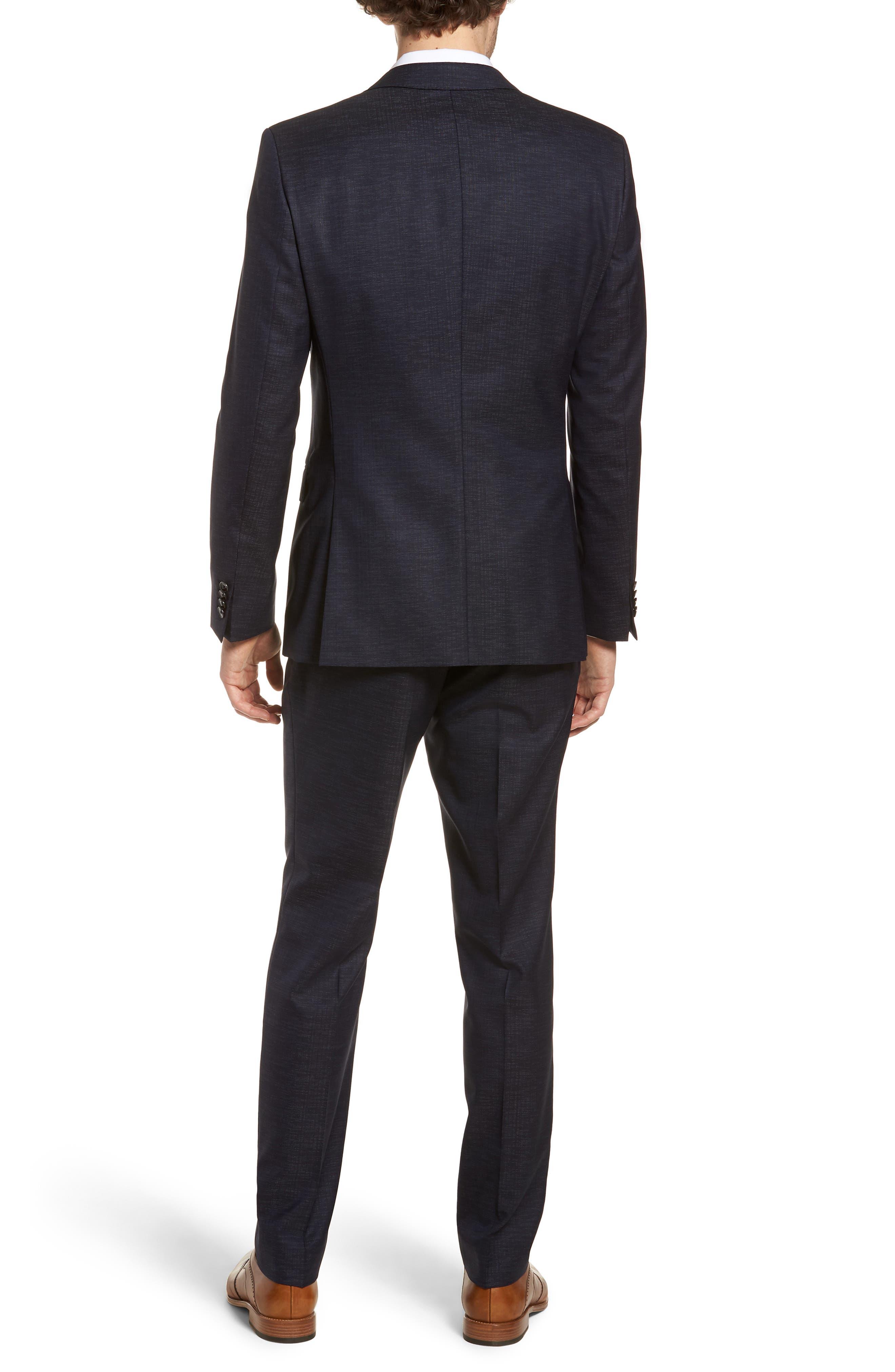 Novan/Ben Trim Fit Solid Wool Blend Suit,                             Alternate thumbnail 2, color,                             Navy