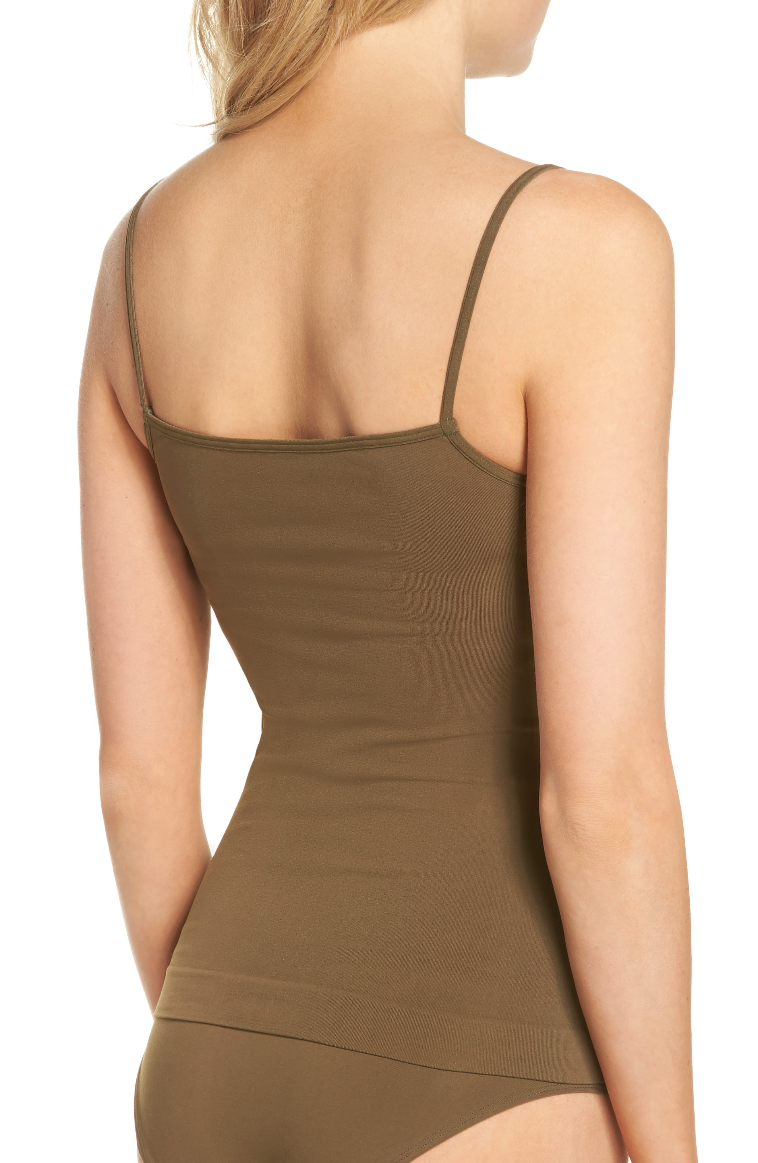 Seamless Two-Way Camisole,                             Alternate thumbnail 2, color,                             Olive Tree