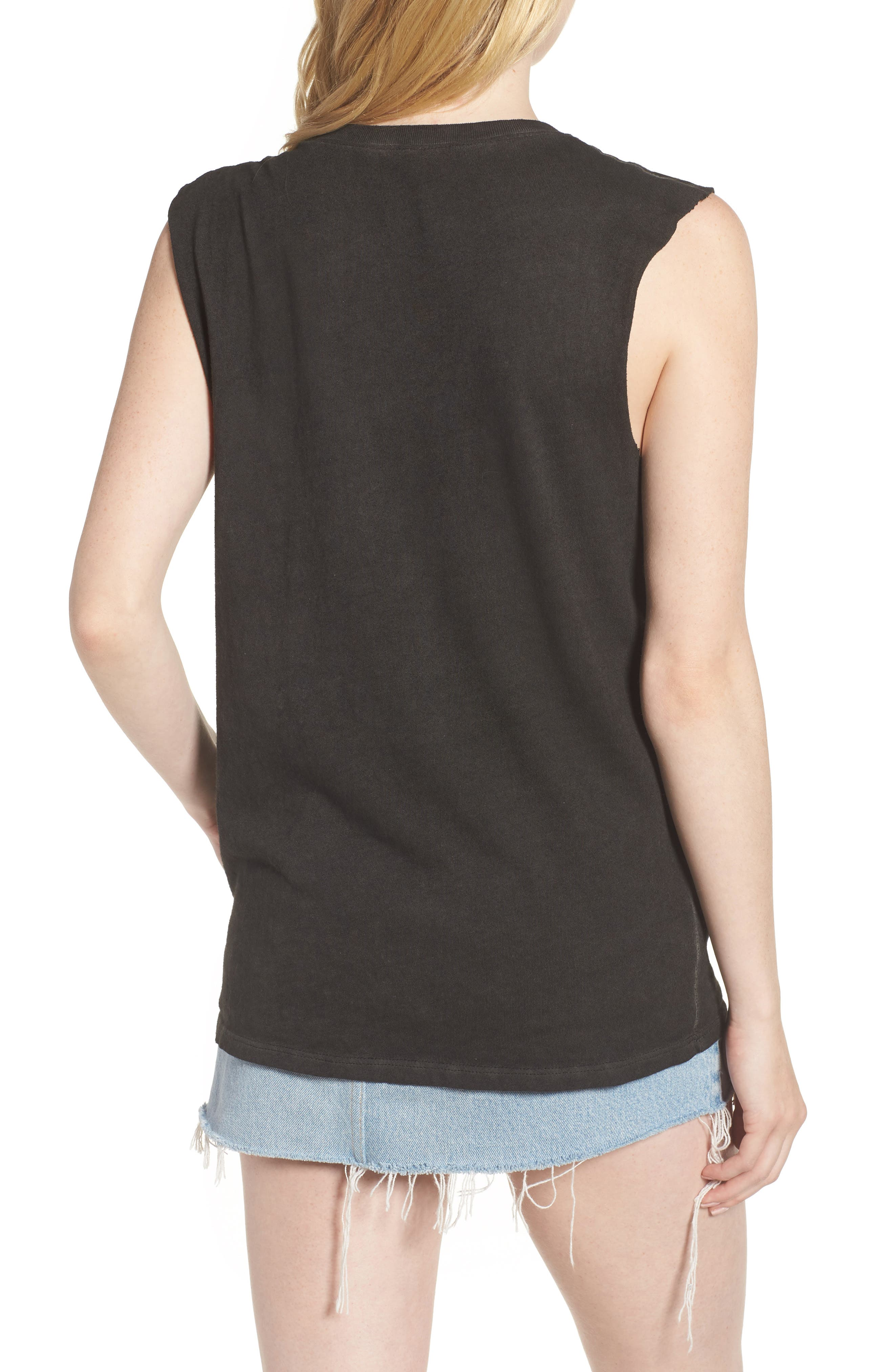 x Grease Muscle Tee,                             Alternate thumbnail 2, color,                             Vintage Black