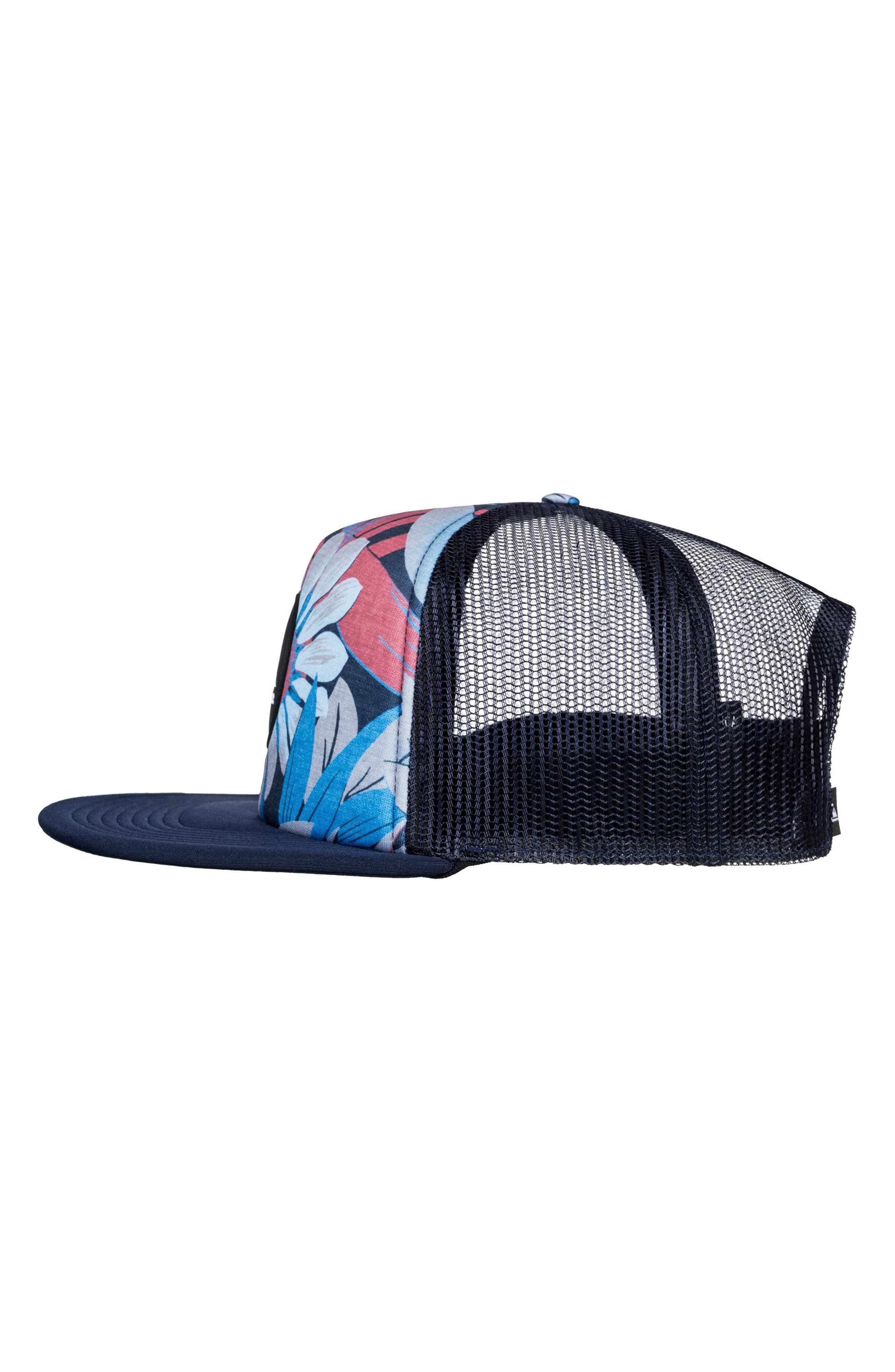 Quicksilver Faded Out Trucker Hat,                             Alternate thumbnail 3, color,                             Navy Blazer