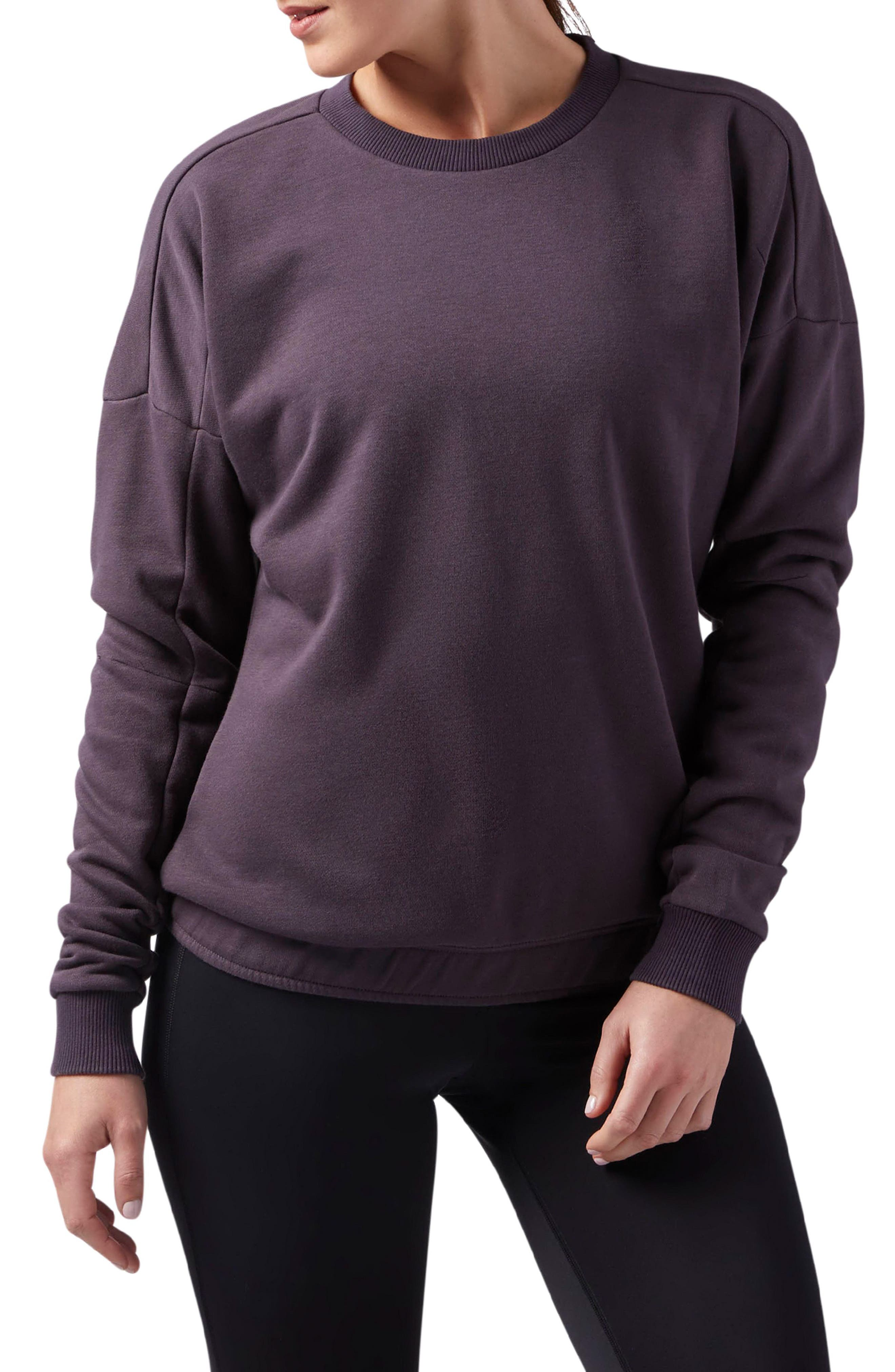Elements Washed Sweatshirt,                         Main,                         color, Smoky Volcano S18-R