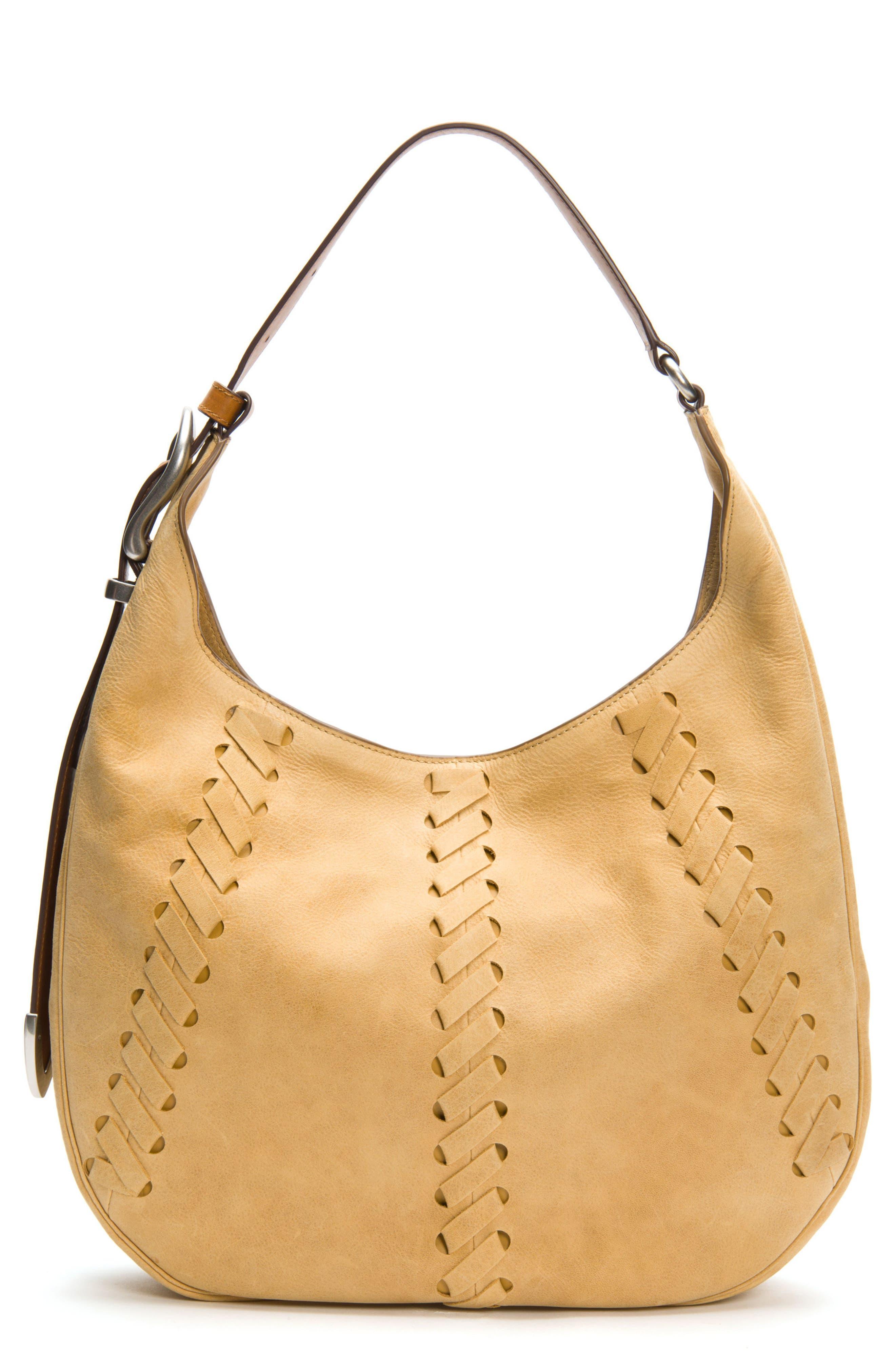 Frye Jacqui Whipstitch Leather Hobo