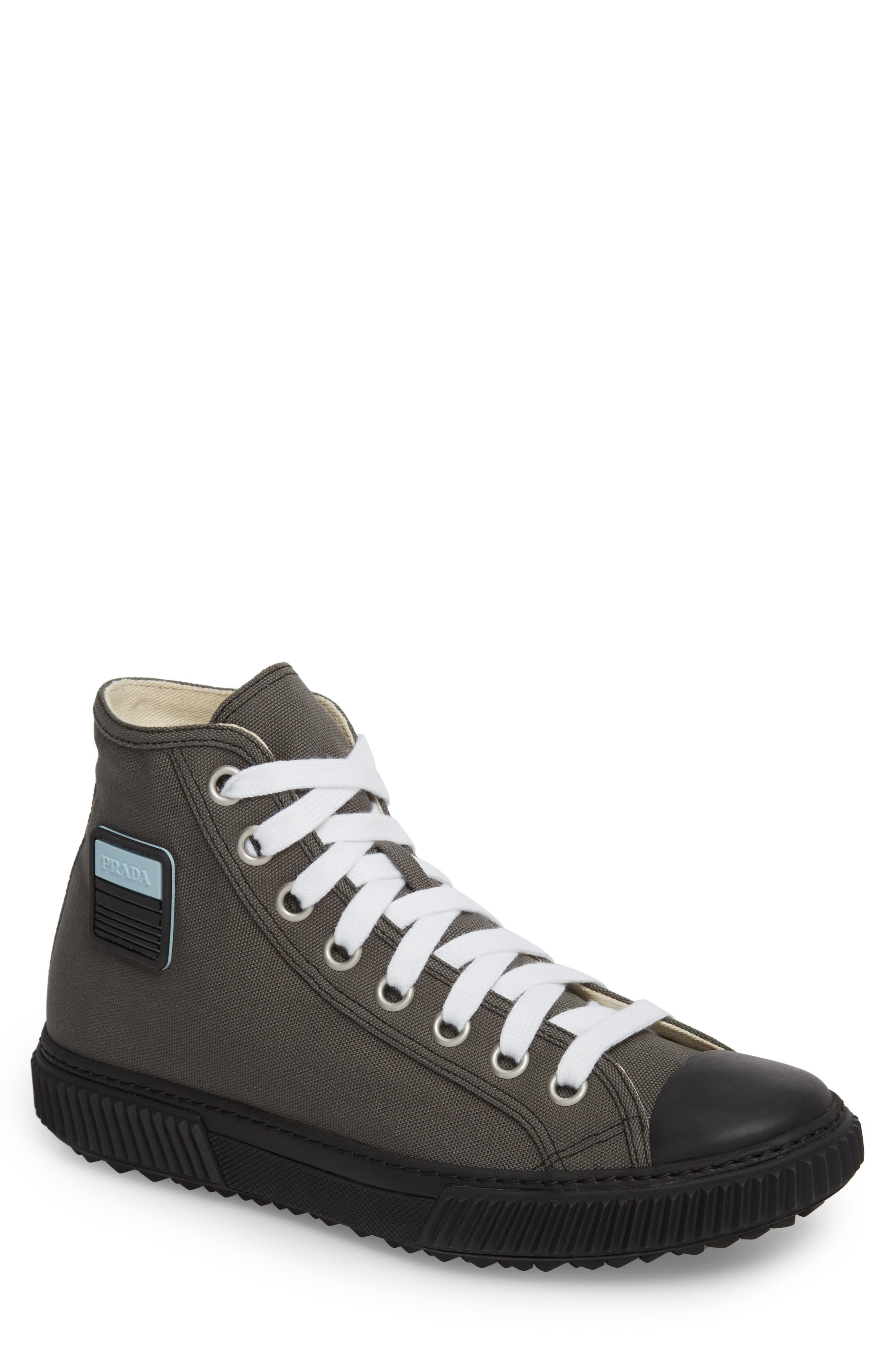 Cap Toe High Top Sneaker,                             Main thumbnail 1, color,                             Ardesia Nero