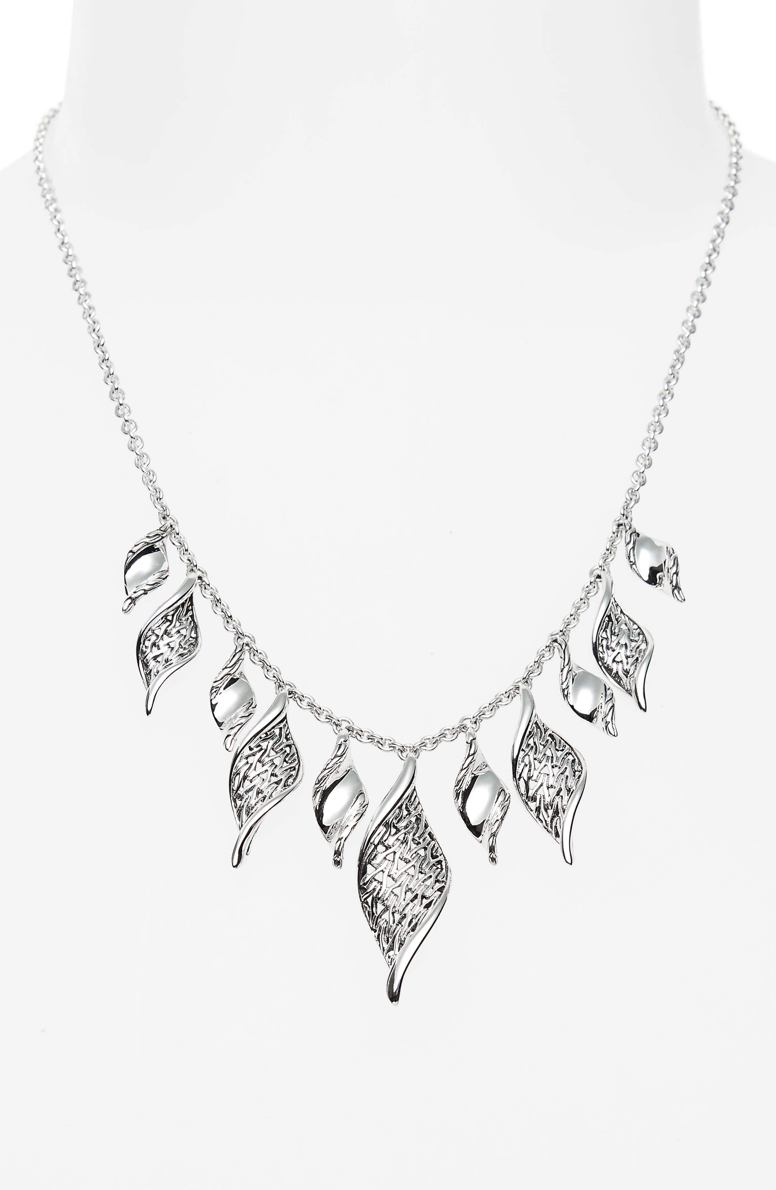 Classic Chain Wave Necklace,                             Alternate thumbnail 2, color,                             Silver