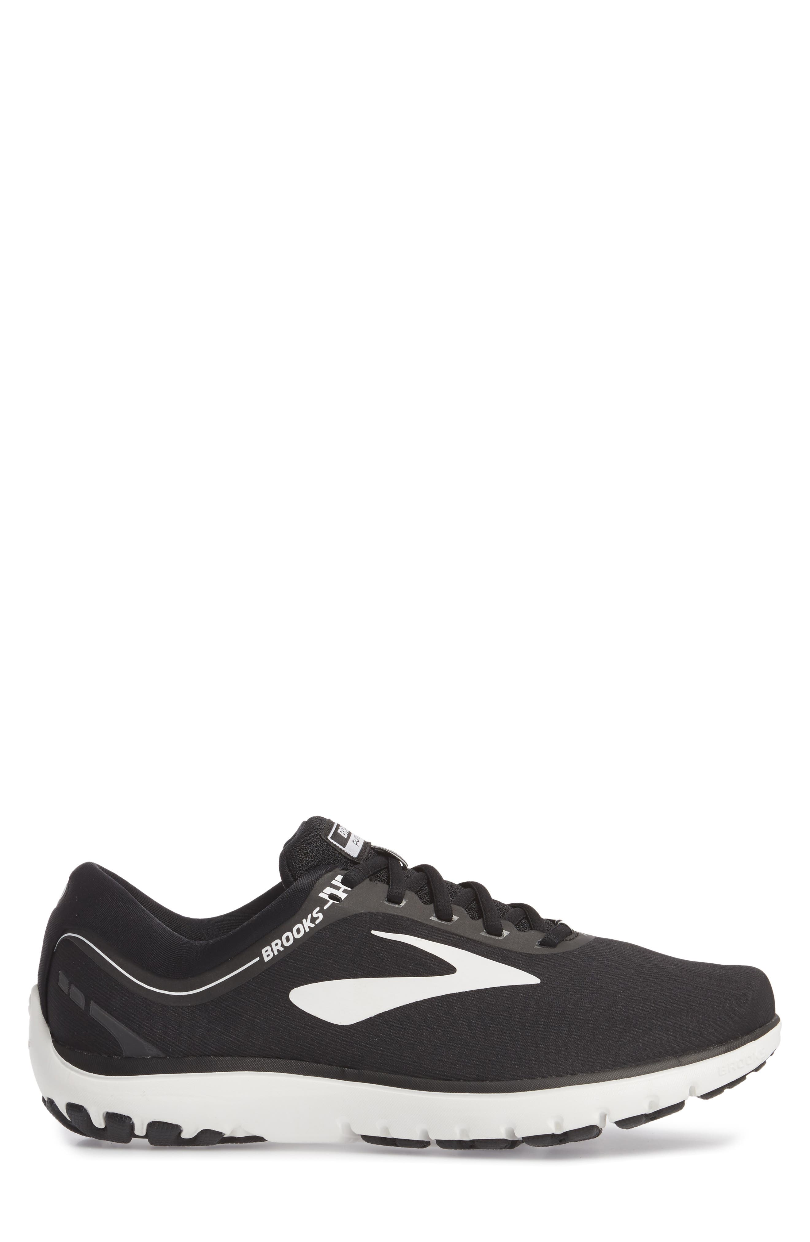 PureFlow 7 Running Shoe,                             Alternate thumbnail 3, color,                             Black/ White