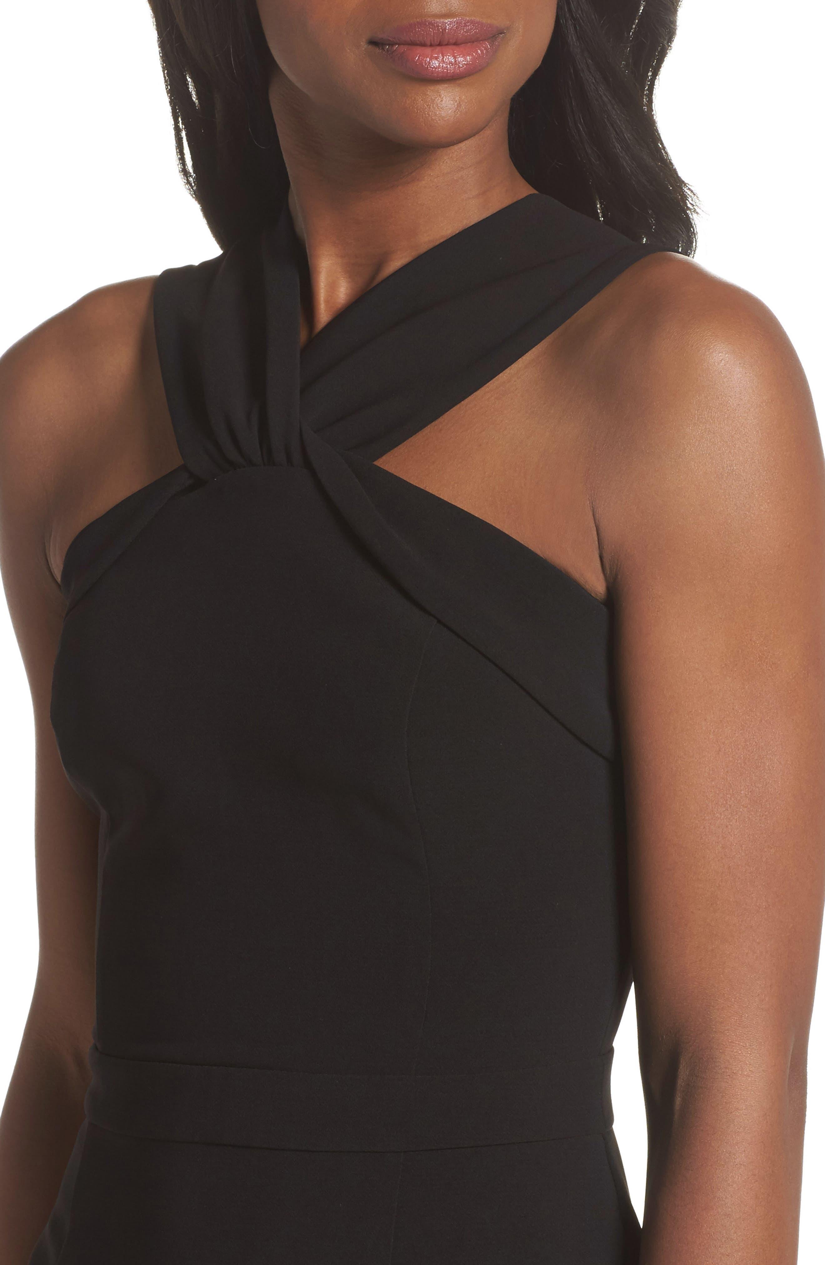 Wanda Sleeveless Sheath Dress,                             Alternate thumbnail 4, color,                             Black