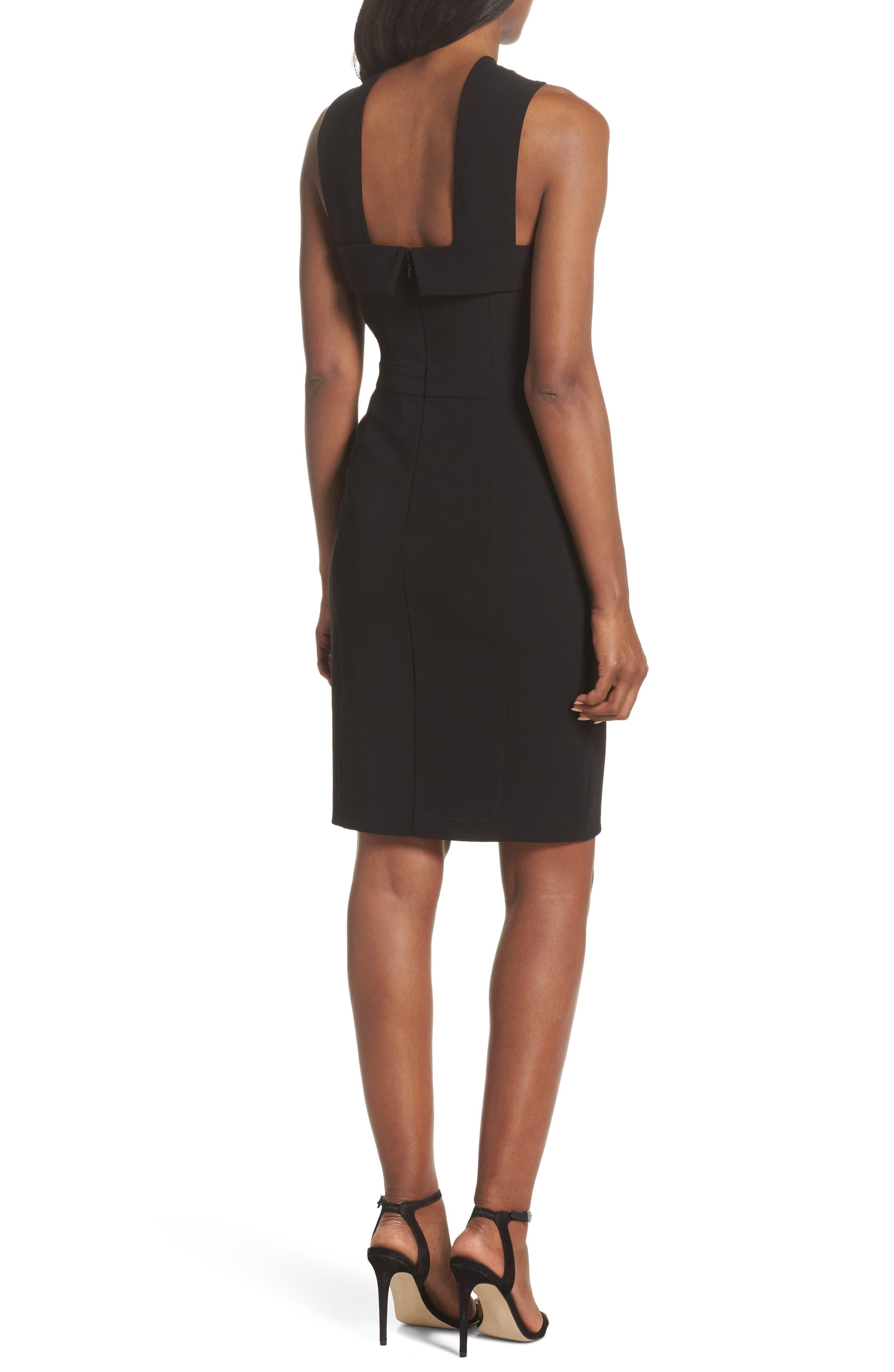 Wanda Sleeveless Sheath Dress,                             Alternate thumbnail 2, color,                             Black