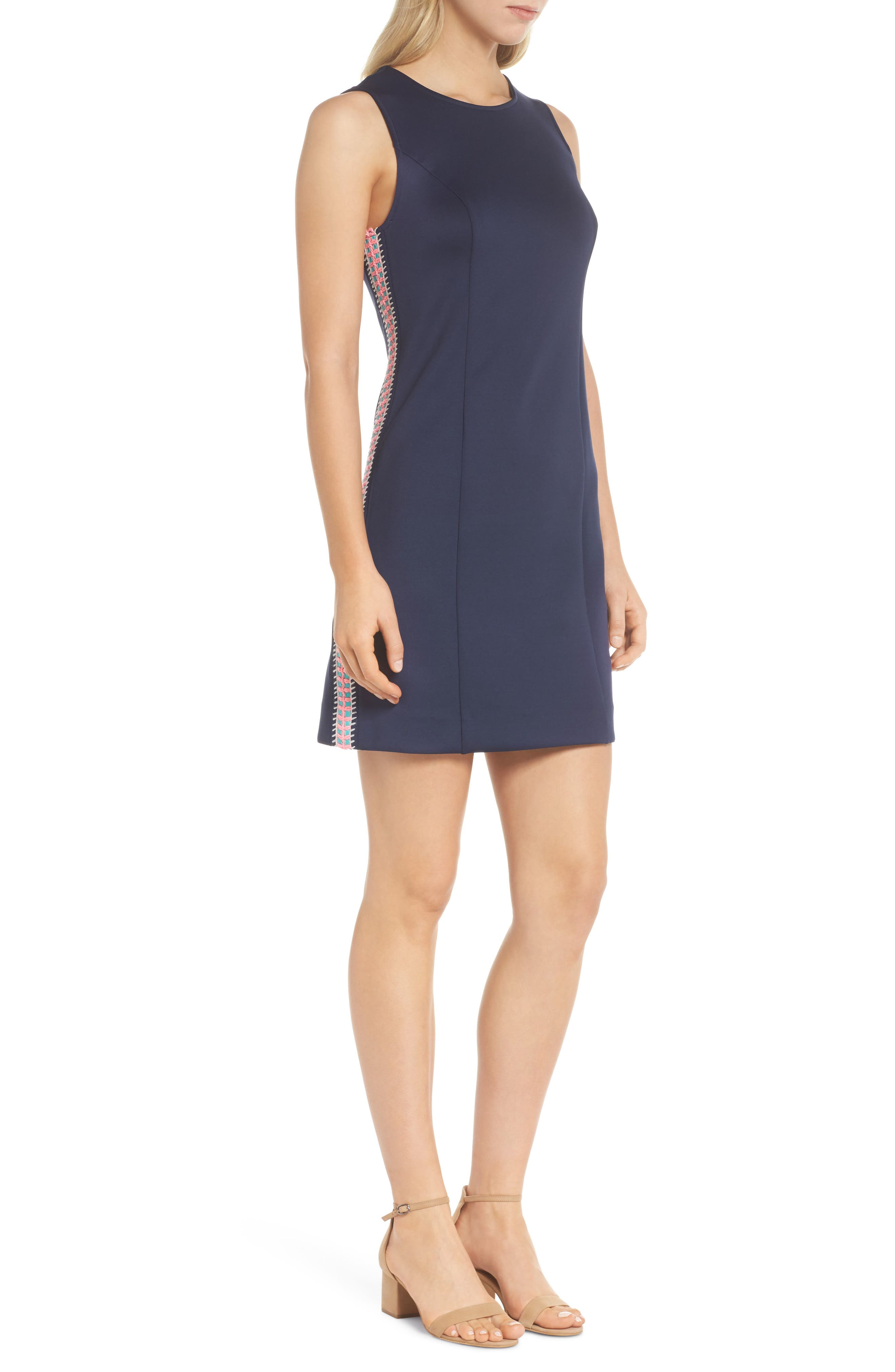 Mila Sheath Dress,                             Alternate thumbnail 3, color,                             True Navy