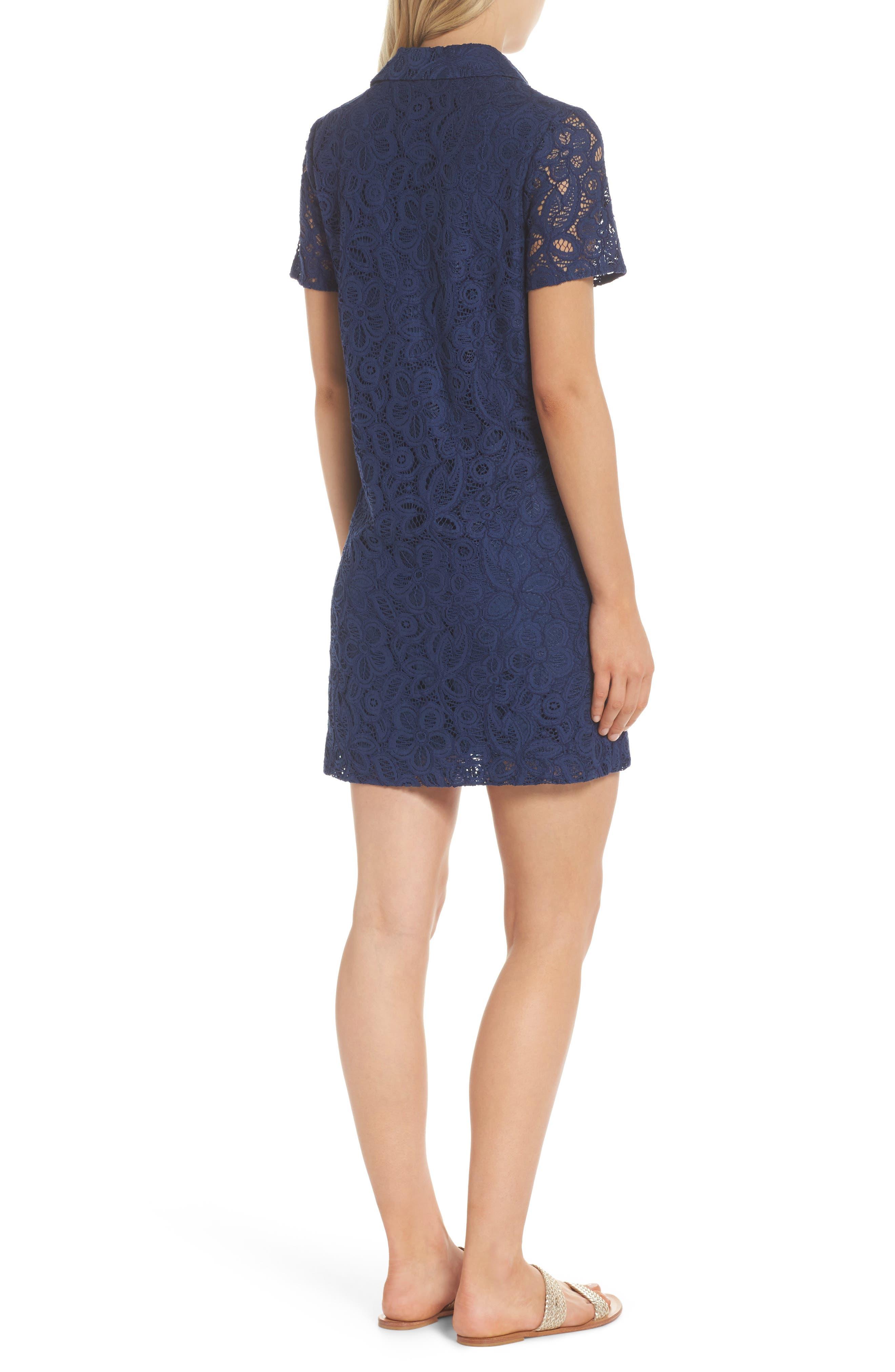 Nelle Shirtdress,                             Alternate thumbnail 2, color,                             High Tide Floral Pop Lace