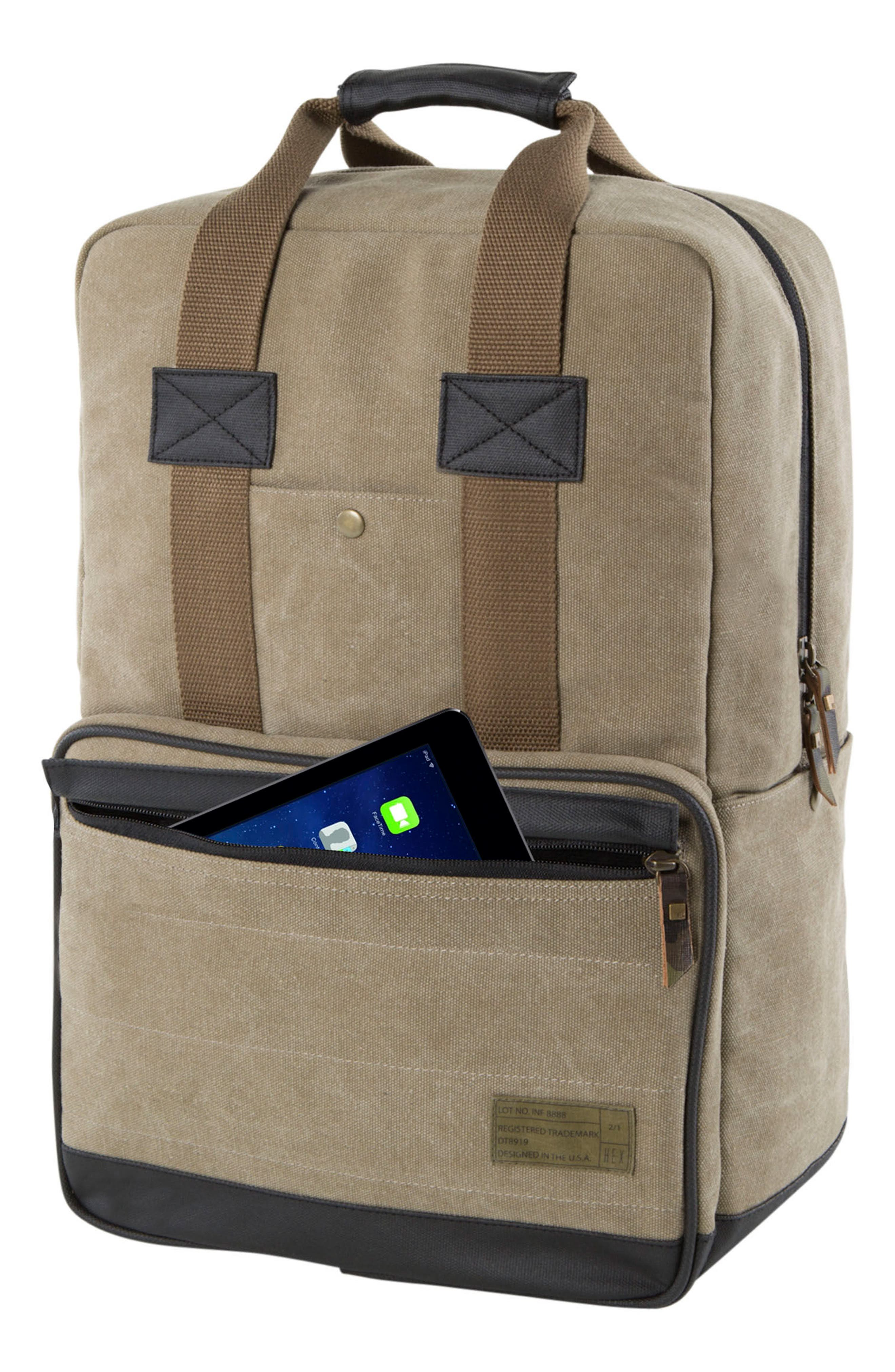 Supply Convertible Water Resistant Backpack,                             Alternate thumbnail 5, color,                             Khaki