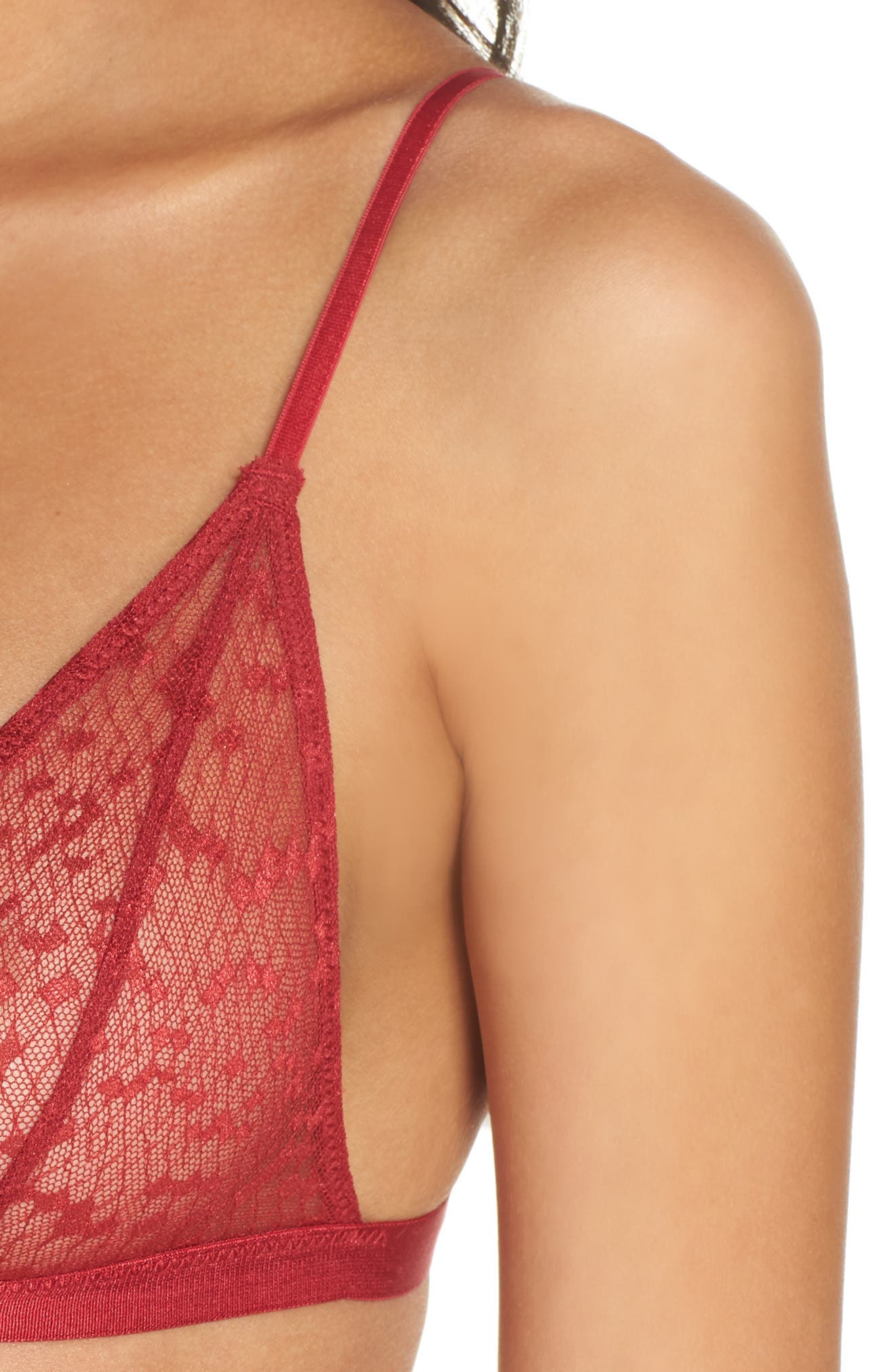 Alternate Image 9  - Les Girls Les Boys Snake Lace Triangle Bralette