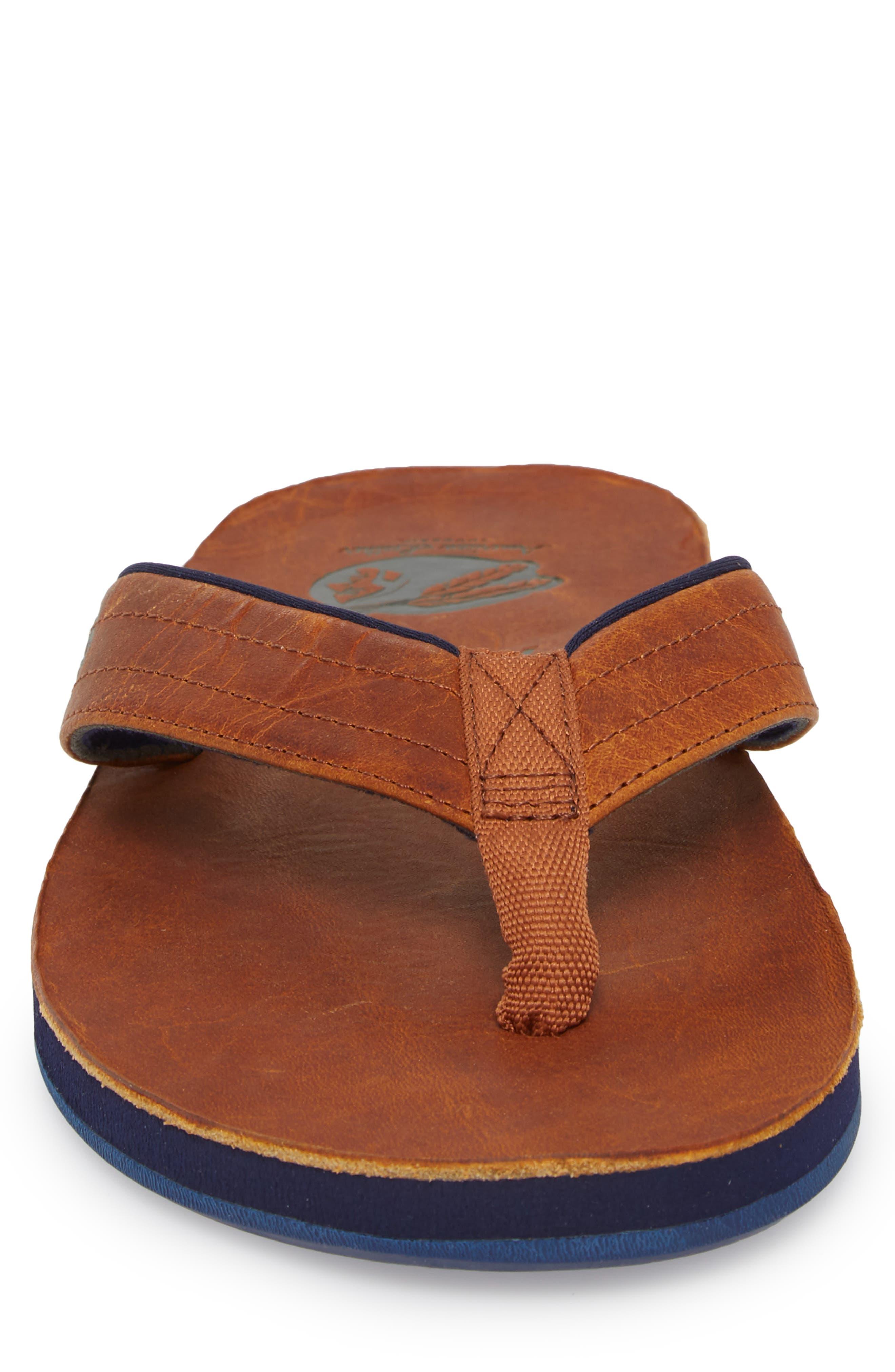 Nokona Flip Flop,                             Alternate thumbnail 4, color,                             Generation Brown Leather