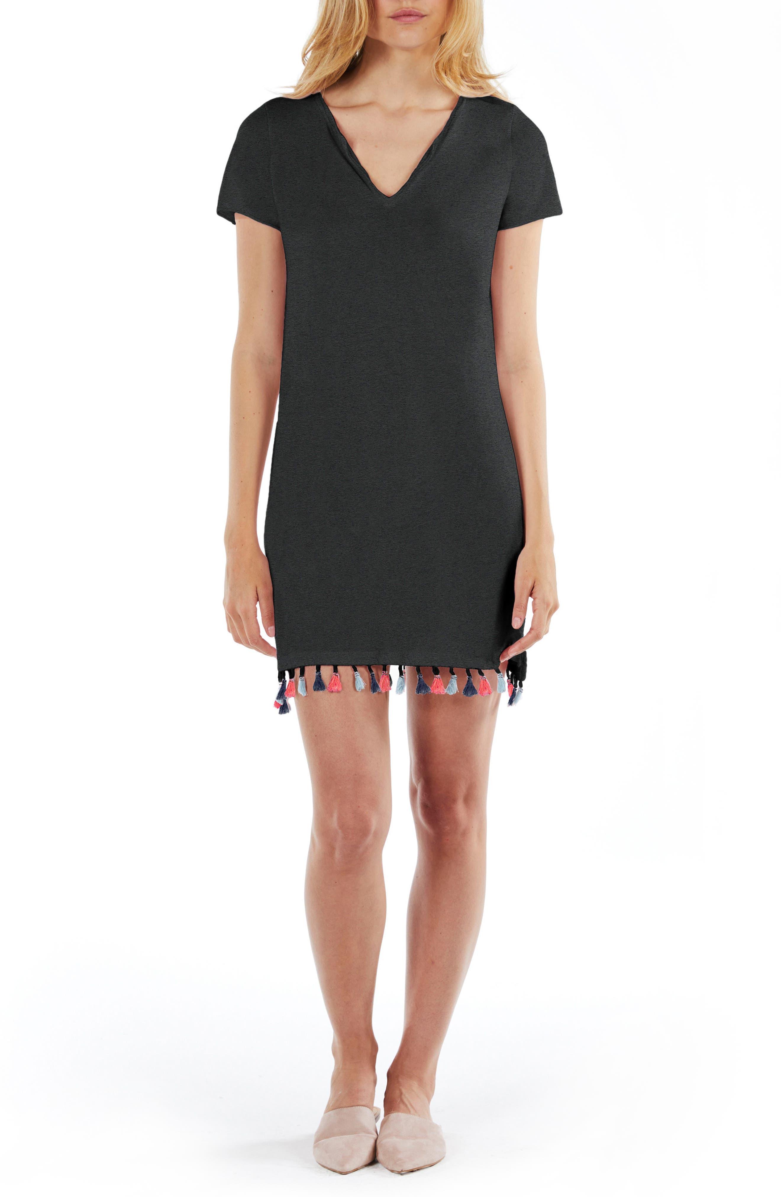 T-Shirt Dress,                         Main,                         color, Black