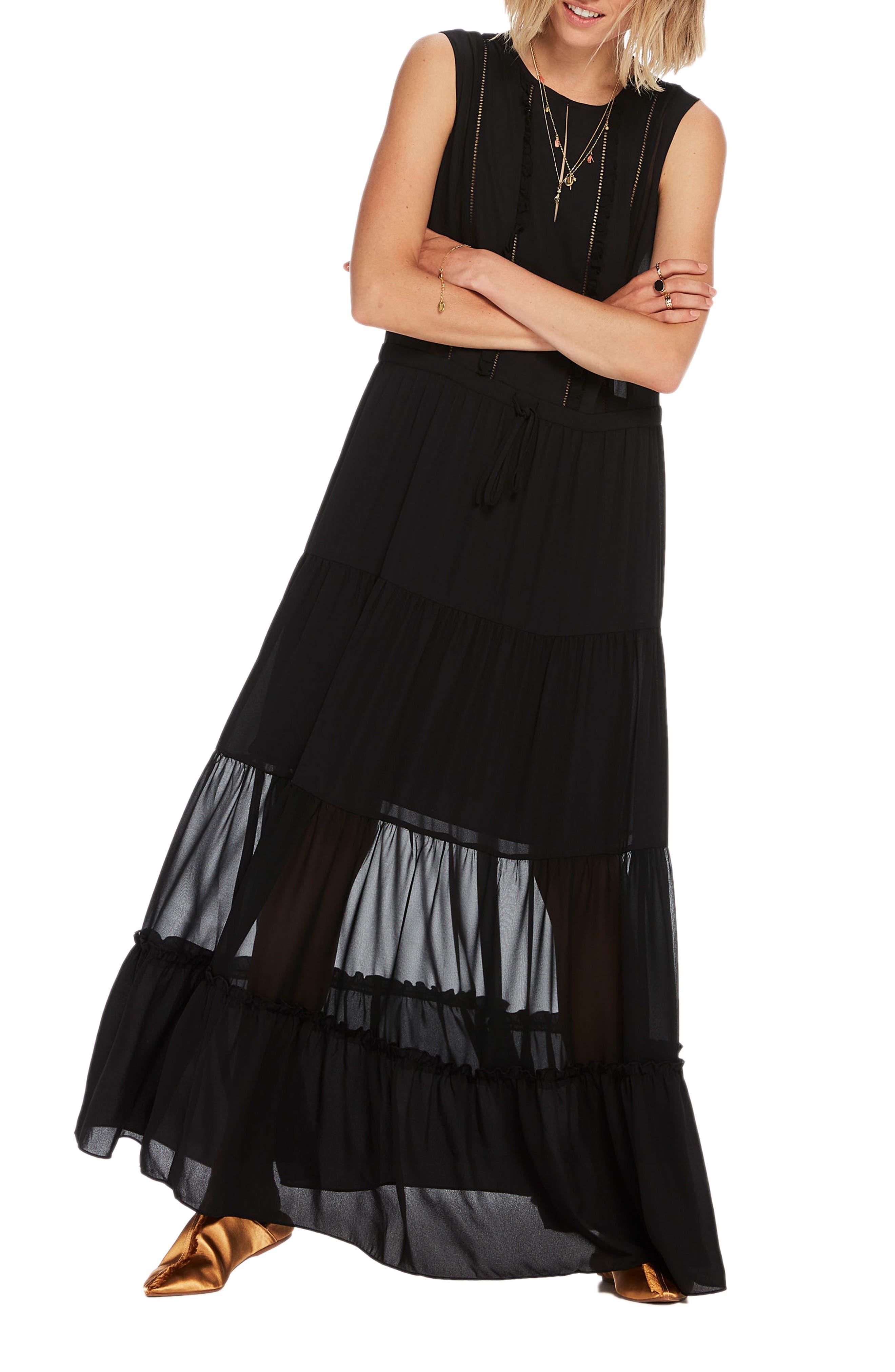 Sleeveless Maxi Dress,                             Main thumbnail 1, color,                             Color 08 Black