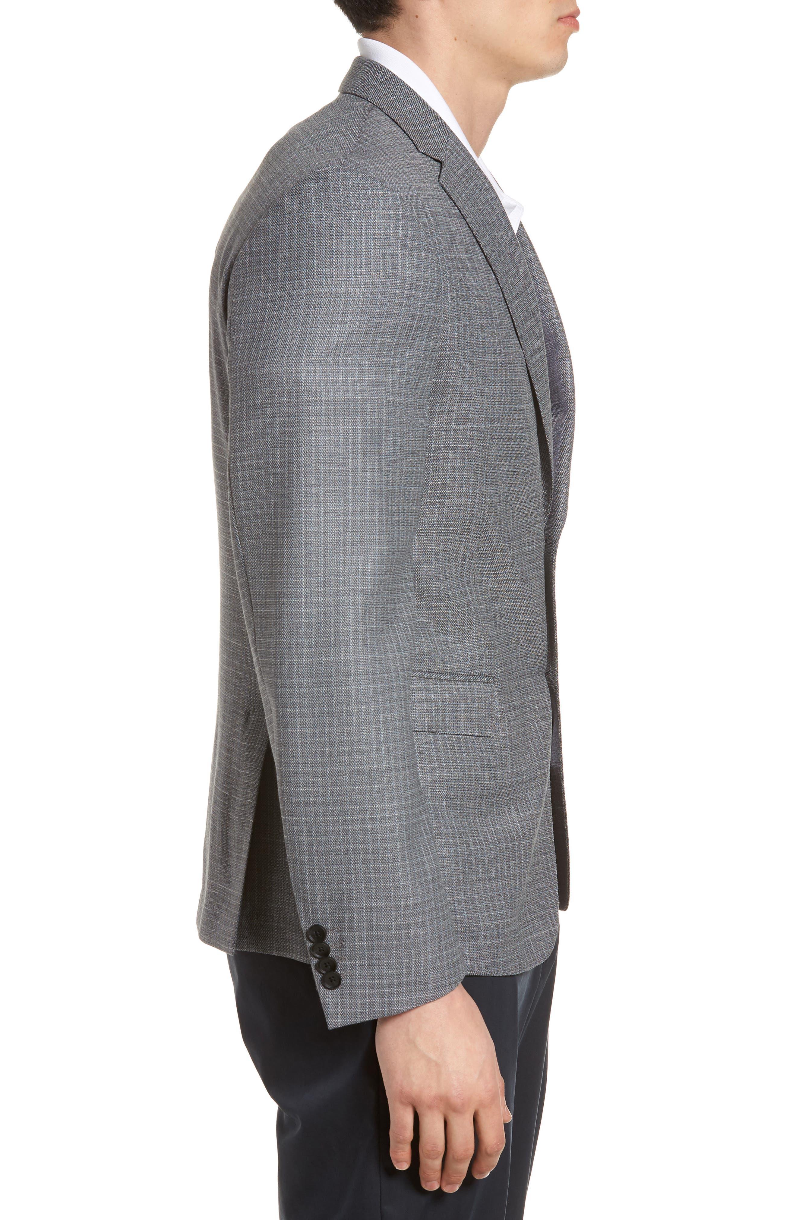 Nobis Trim Fit Wool Sport Coat,                             Alternate thumbnail 3, color,                             Medium Grey