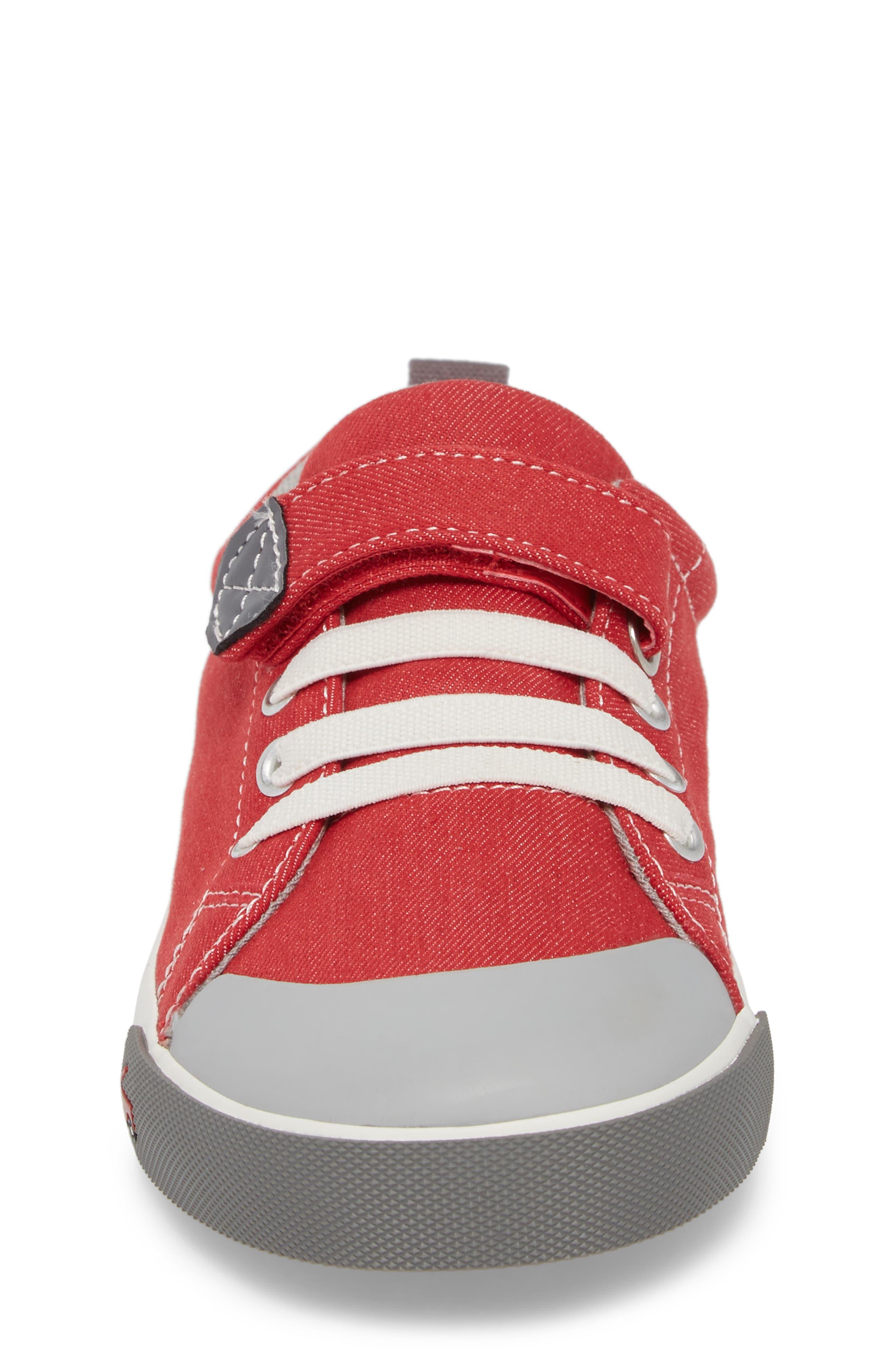 Stevie II Sneaker,                             Alternate thumbnail 4, color,                             Red/ Gray