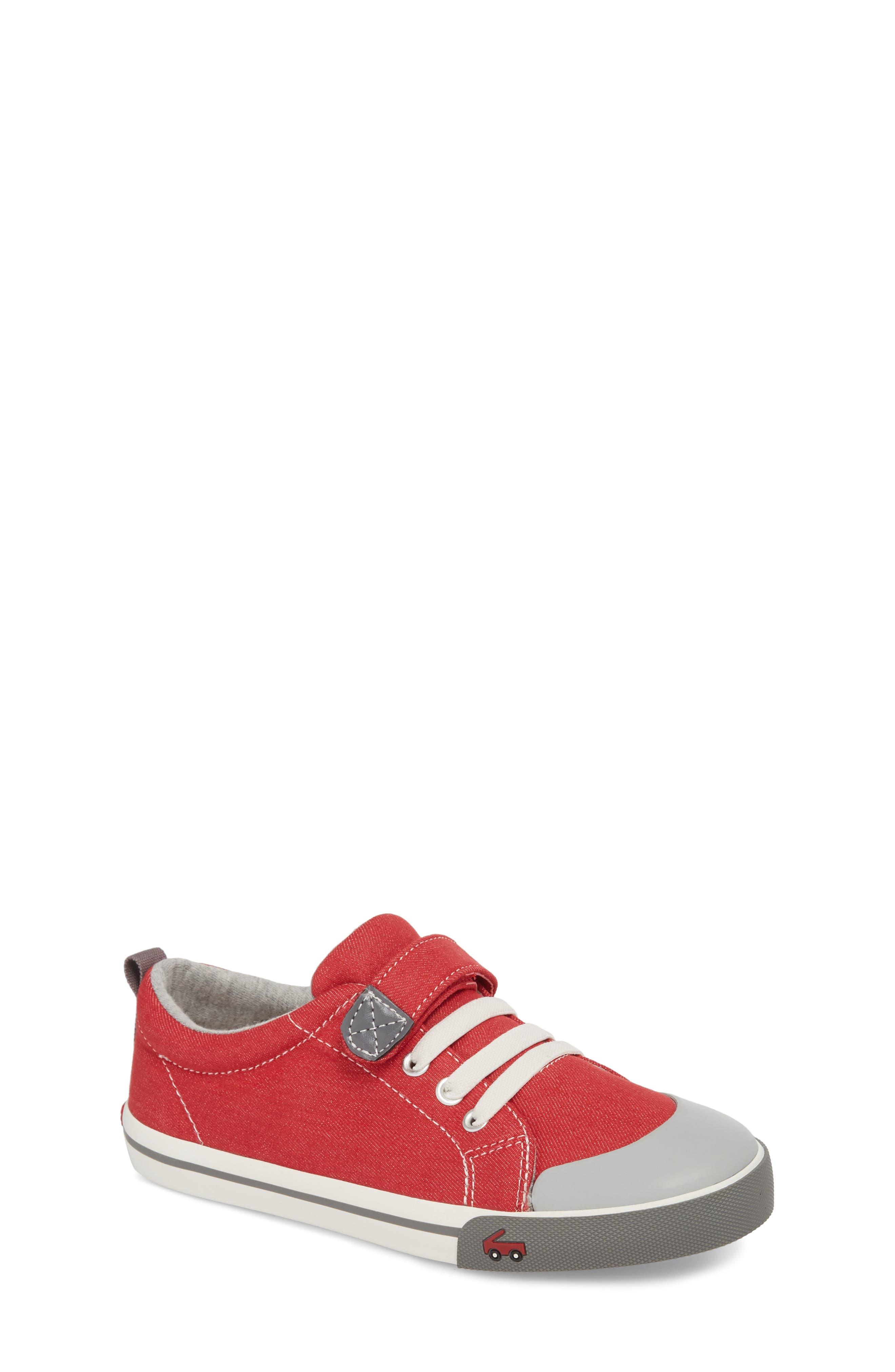 Stevie II Sneaker,                             Main thumbnail 1, color,                             Red/ Gray