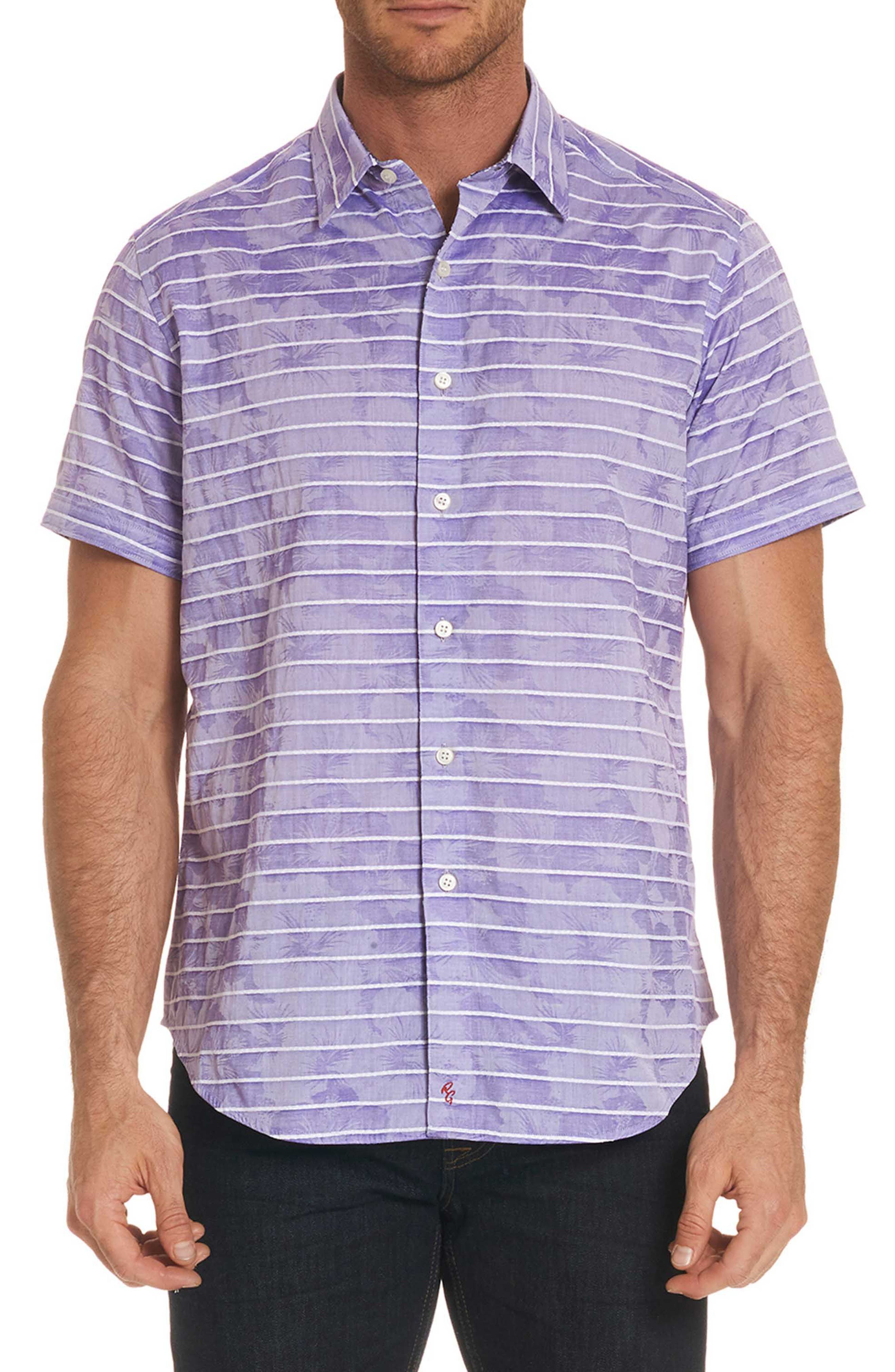 Avenida Classic Fit Jacquard Sport Shirt,                         Main,                         color, Purple