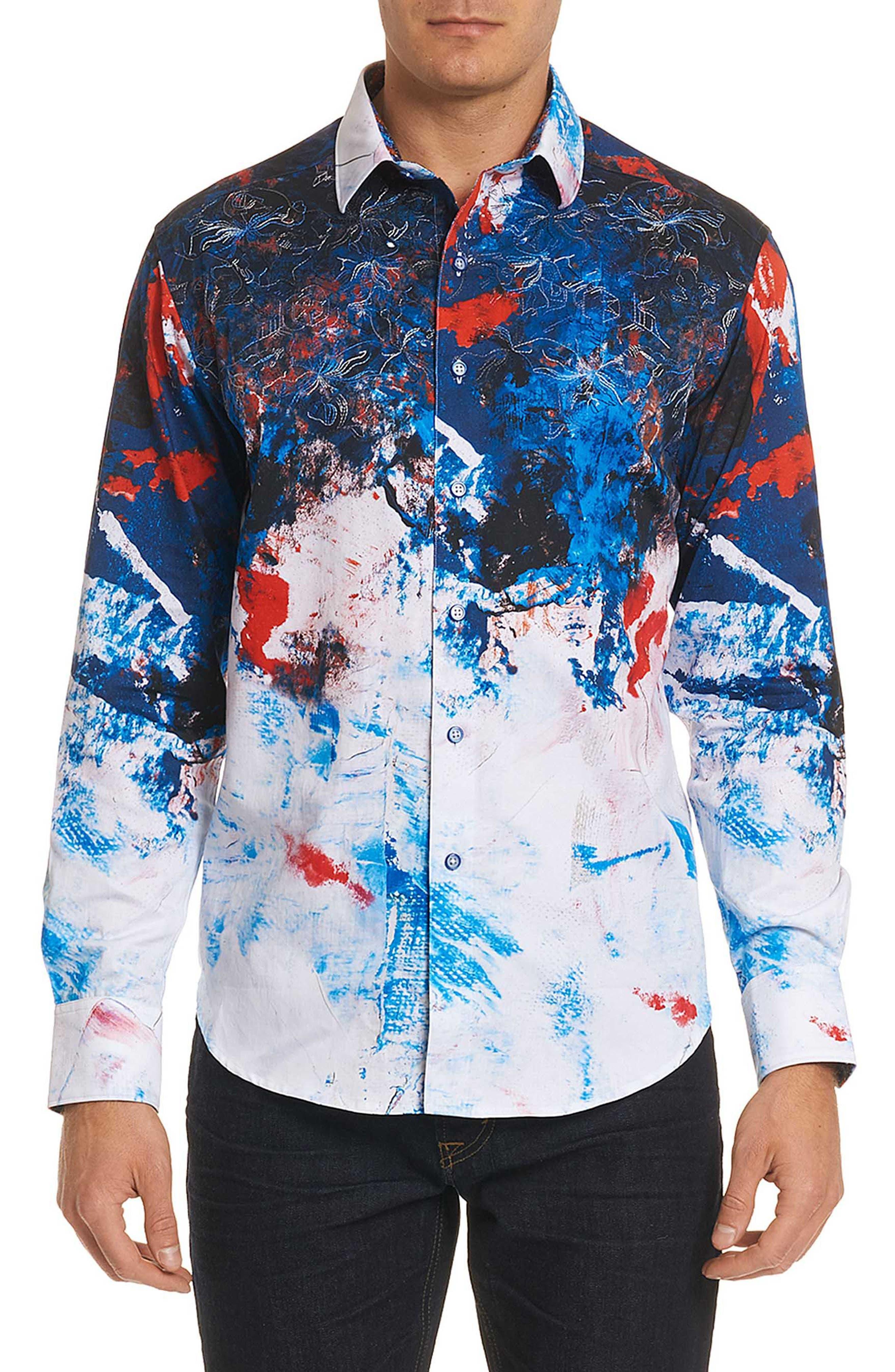 Calzada Classic Fit Sport Shirt,                         Main,                         color, Multi