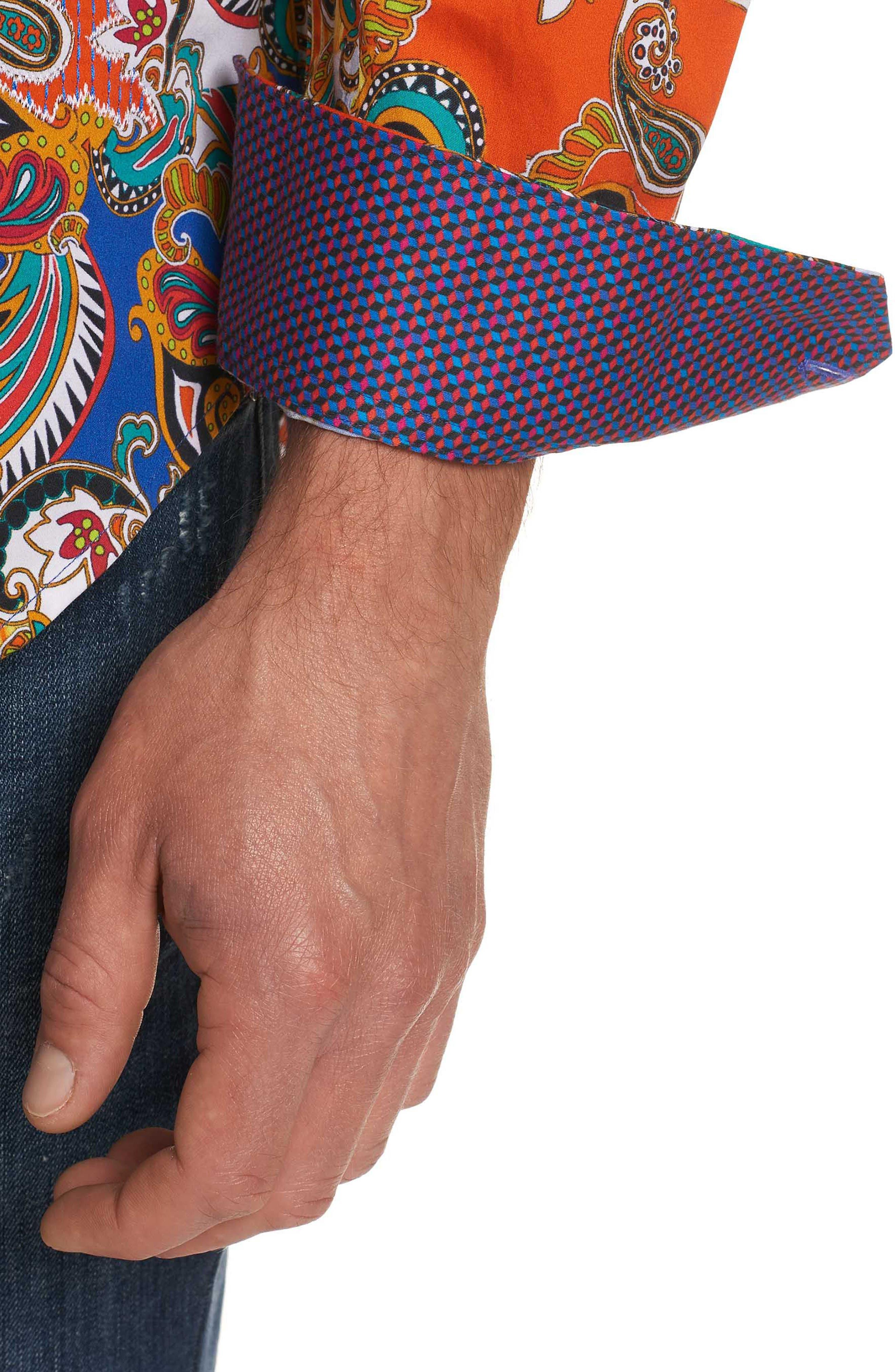 Acosta Classic Fit Sport Shirt,                             Alternate thumbnail 2, color,                             Multi