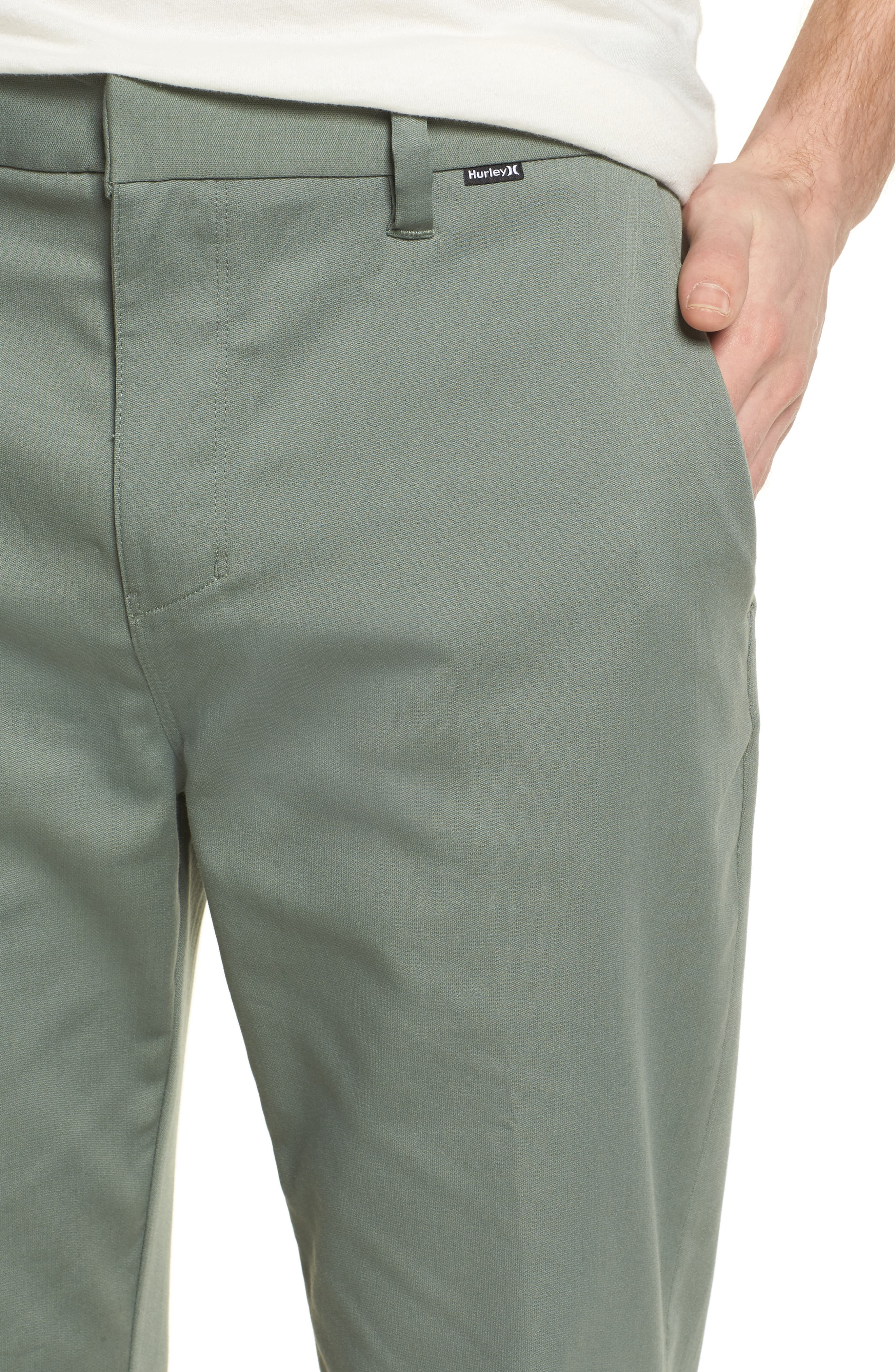 Dry Transistor Straight Leg Pants,                             Alternate thumbnail 4, color,                             Clay Green
