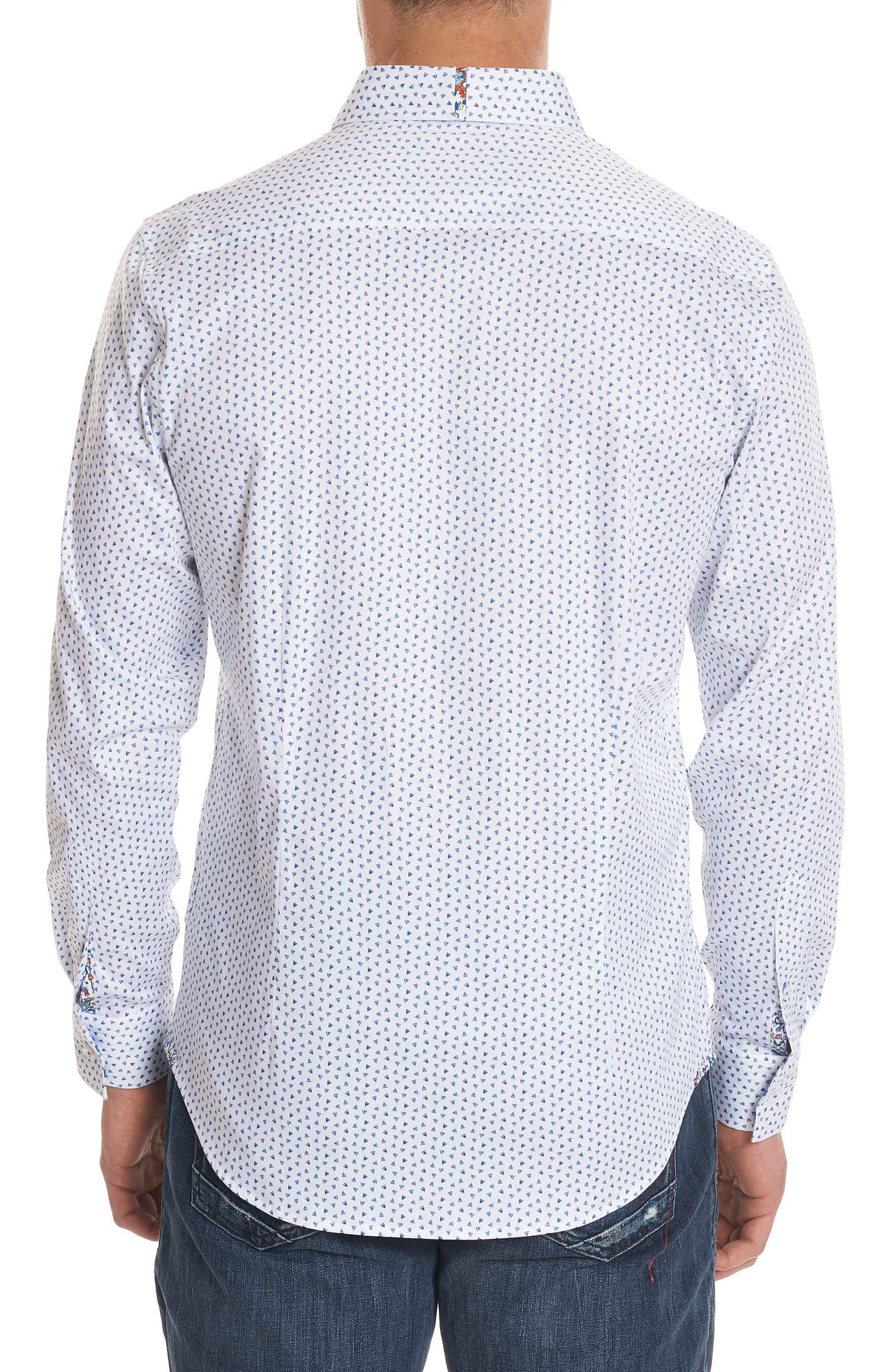 Mitchel Tailored Fit Sport Shirt,                             Alternate thumbnail 2, color,                             Blue