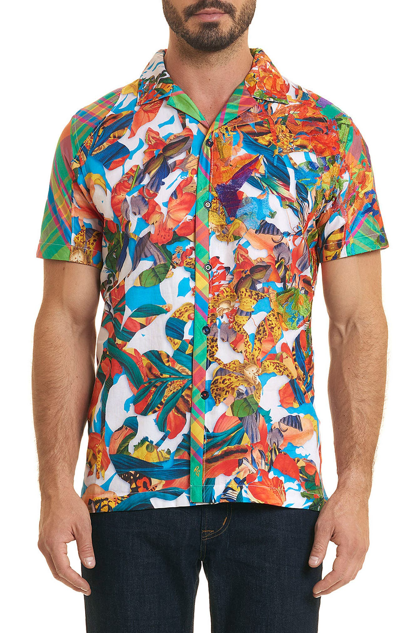 Think Vivid Limited Edition Classic Fit Sport Shirt,                             Main thumbnail 1, color,                             Multi