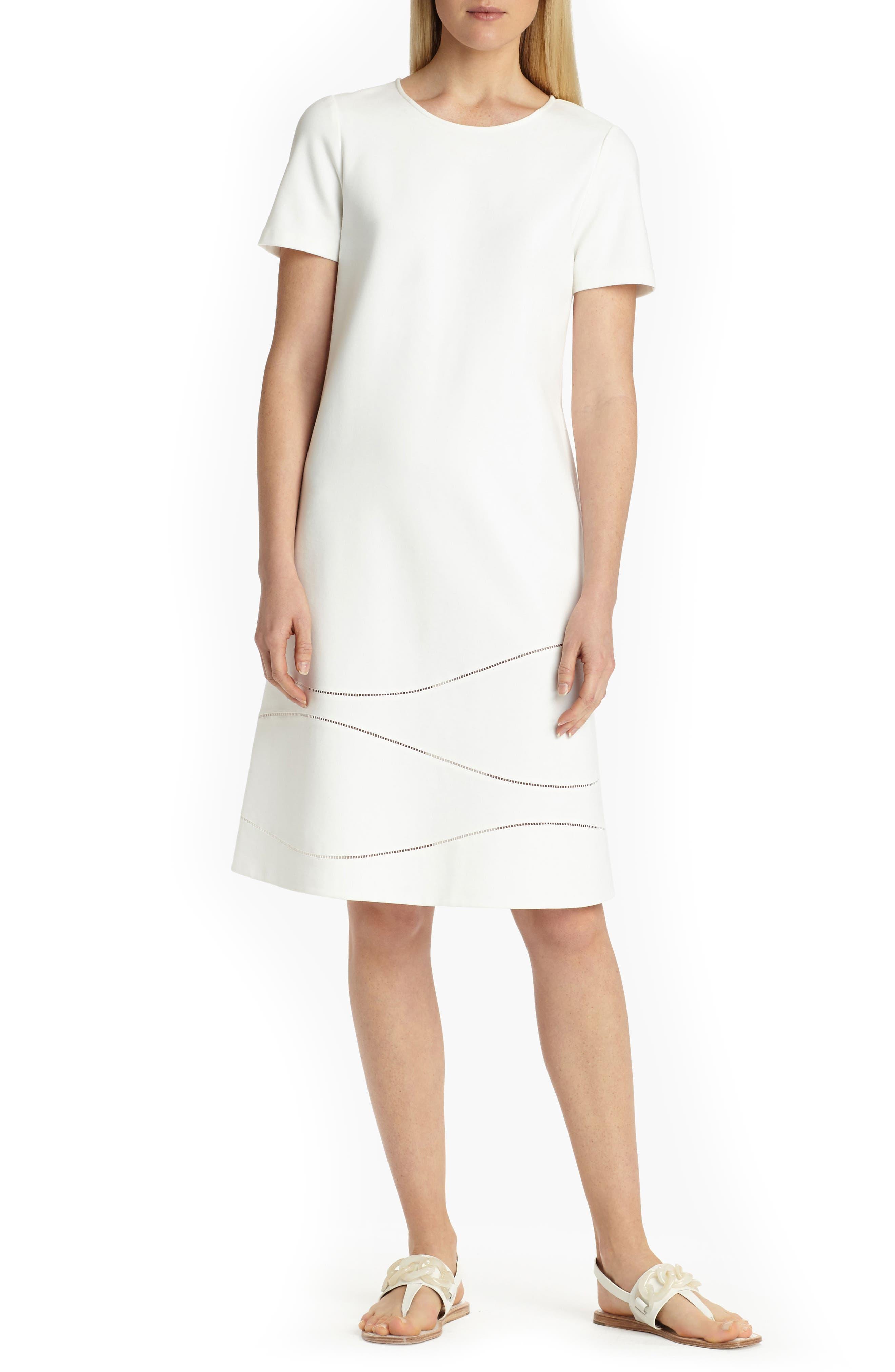 Jasmin A-Line Dress,                             Main thumbnail 1, color,                             White