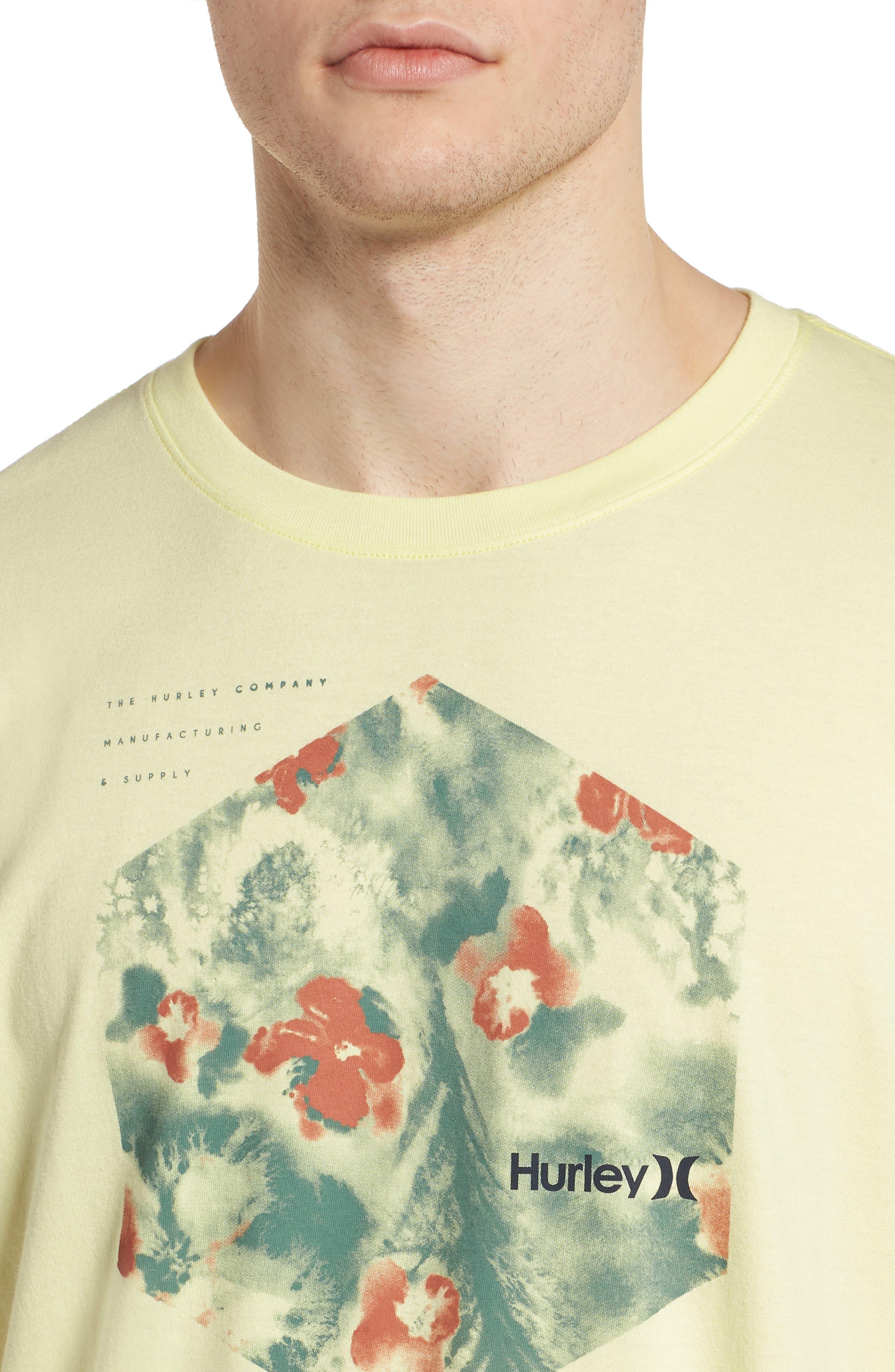 Alternate Image 4  - Hurley Watercolor T-Shirt