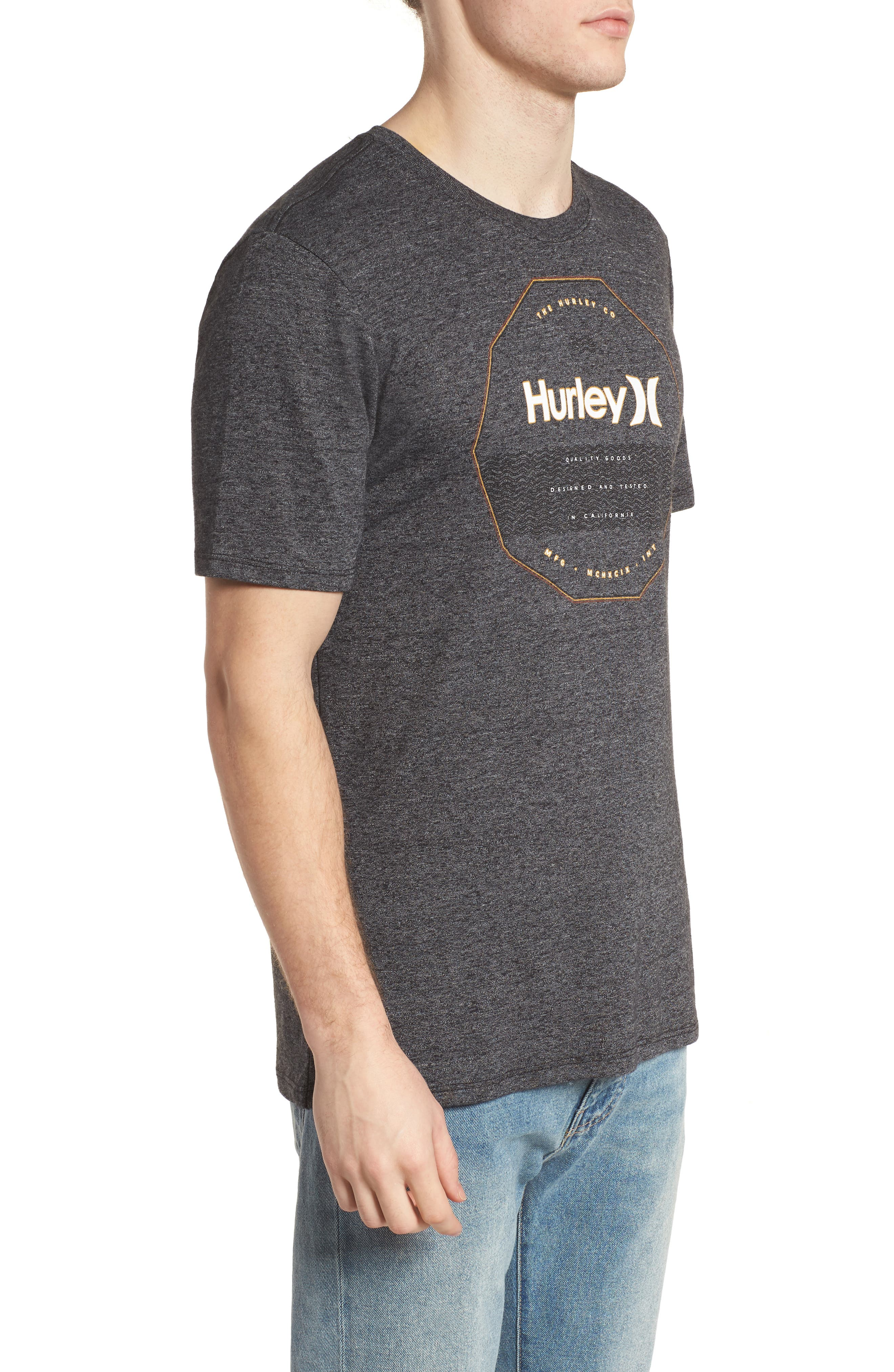 Swellagon Triblend T-Shirt,                             Alternate thumbnail 3, color,                             Black / Wolf Grey