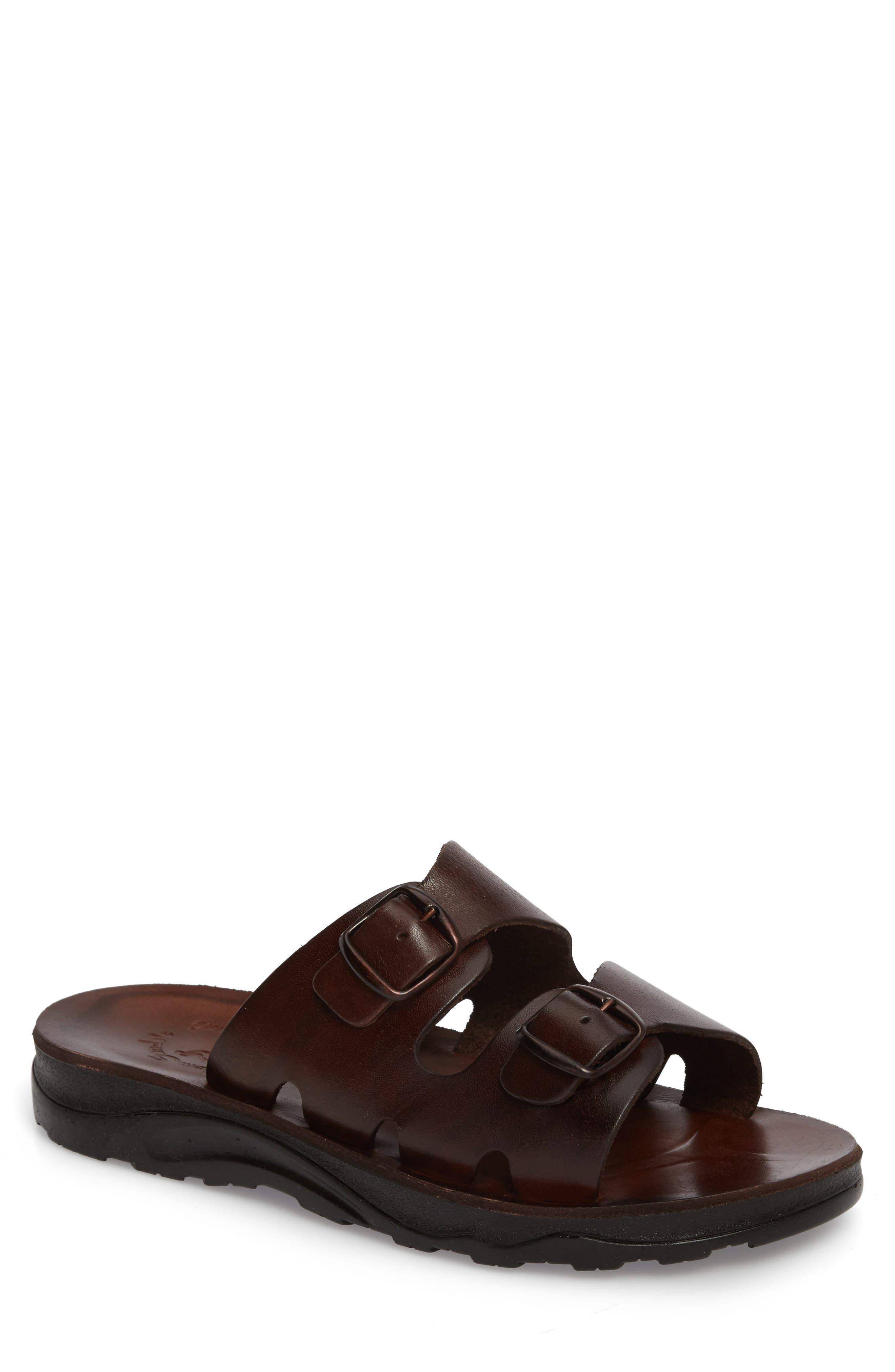 Barnabas Sandal,                         Main,                         color, Brown Leather