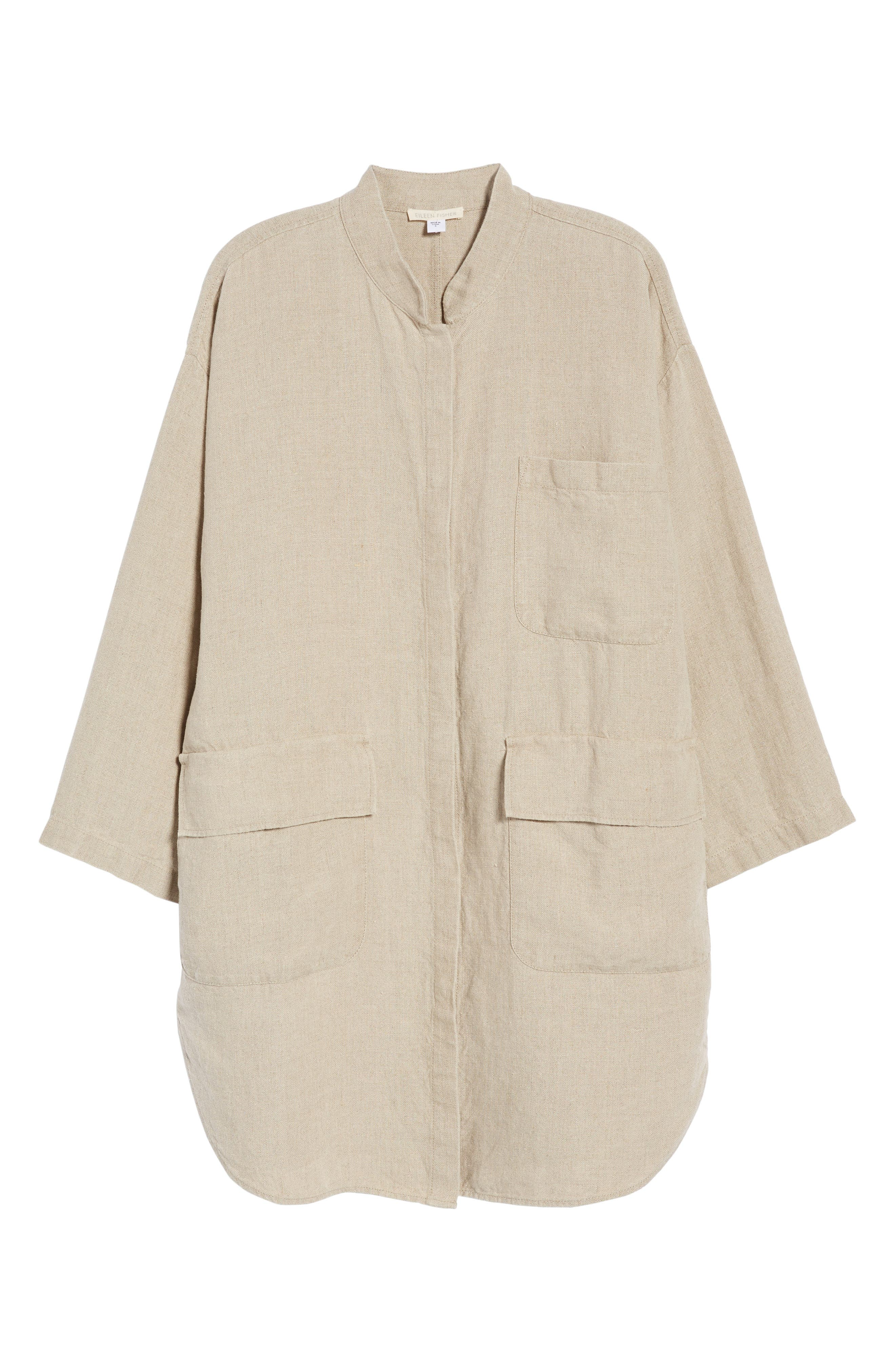 Organic Linen Jacket,                             Alternate thumbnail 7, color,                             Undyed Natural