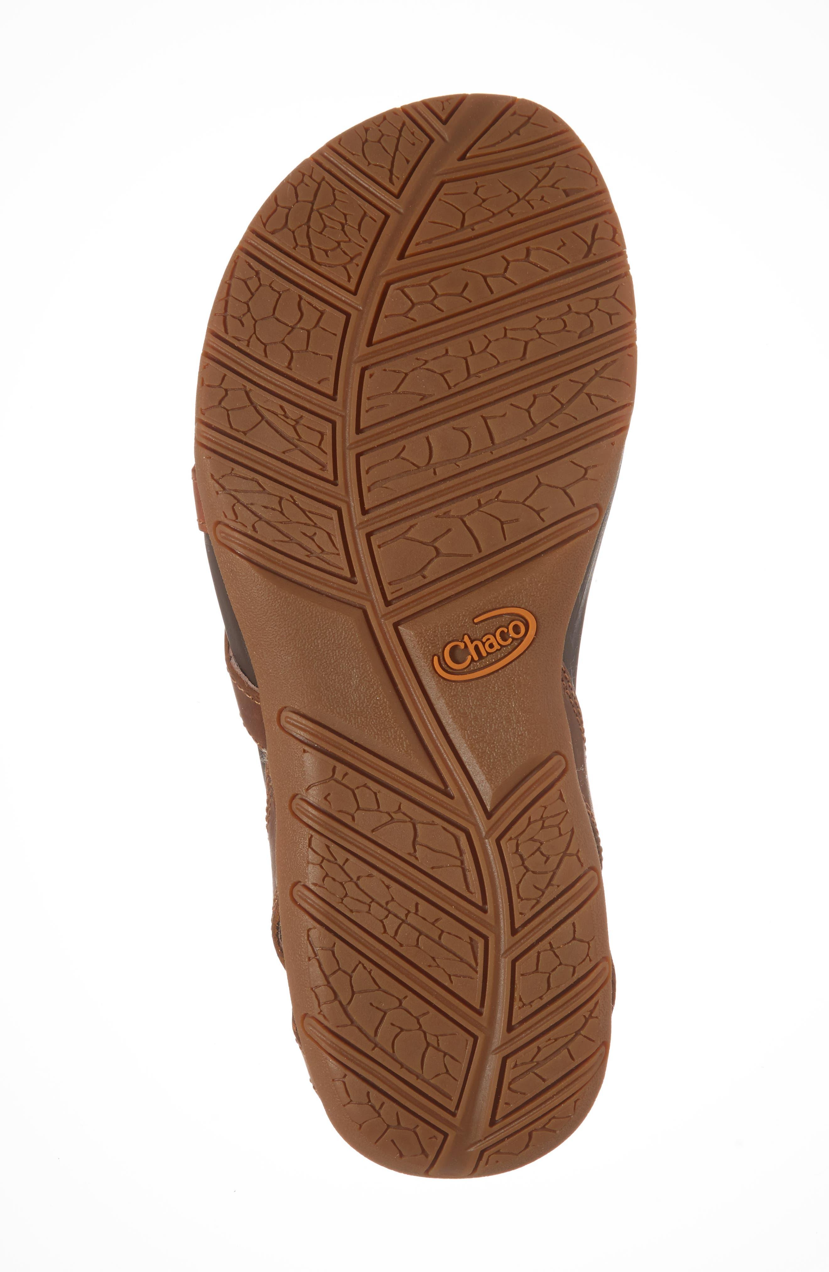 Juniper Sandal,                             Alternate thumbnail 6, color,                             Rust Leather