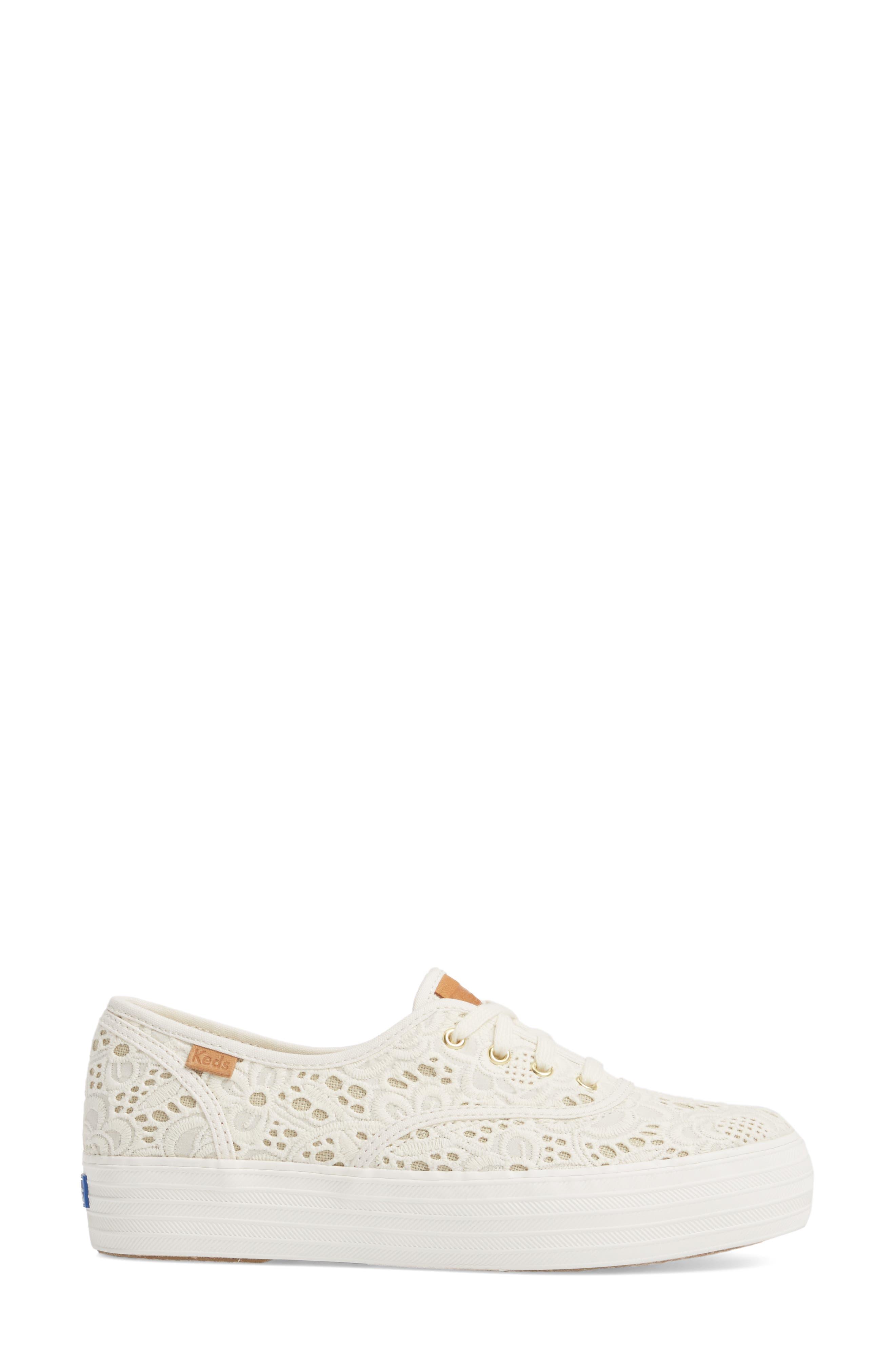 Alternate Image 3  - Keds® Triple Embroidered Crochet Platform Sneaker (Women)