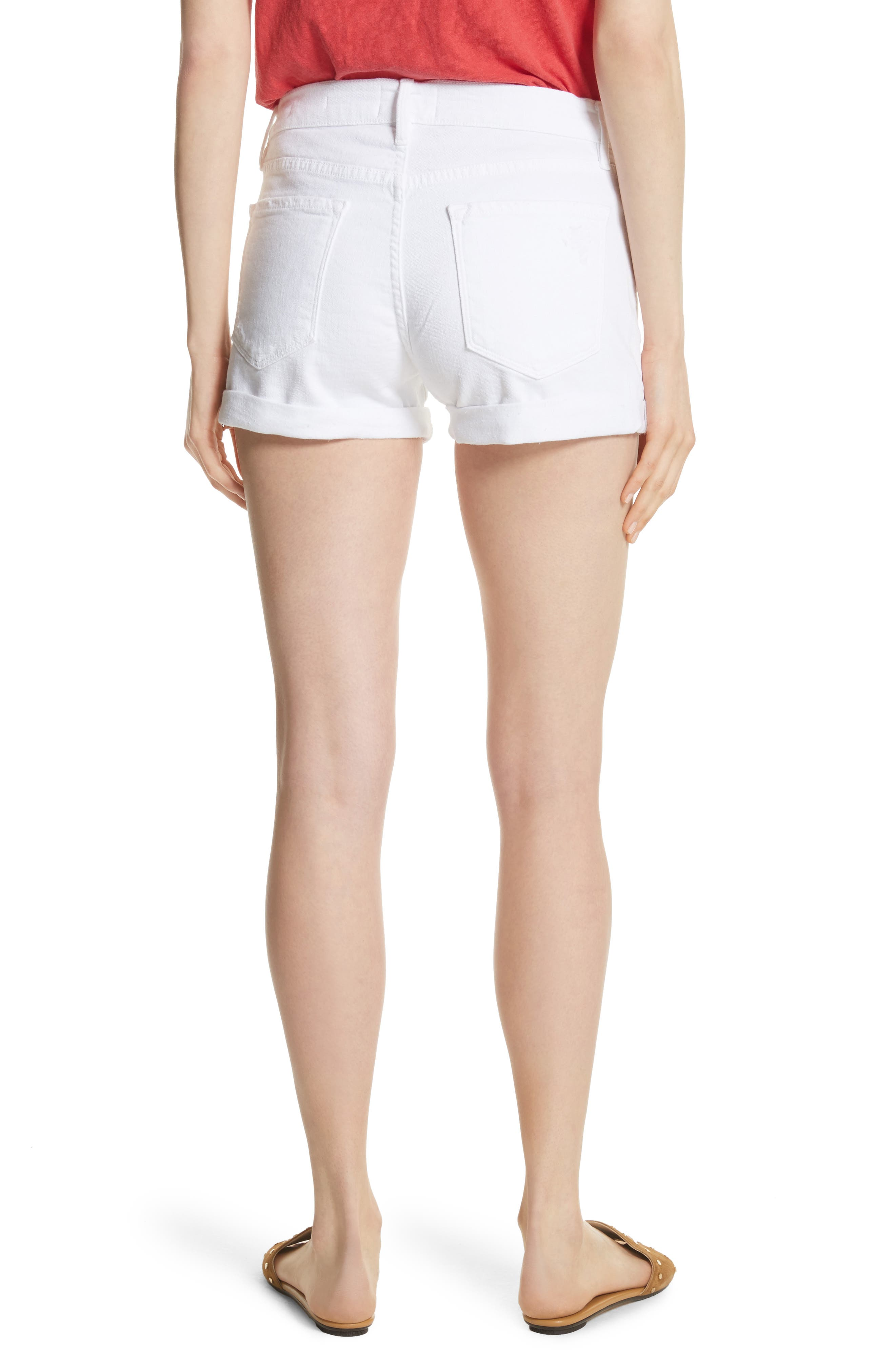Le Cutoff Cuffed Jean Shorts,                             Alternate thumbnail 2, color,                             Blanc Rookley
