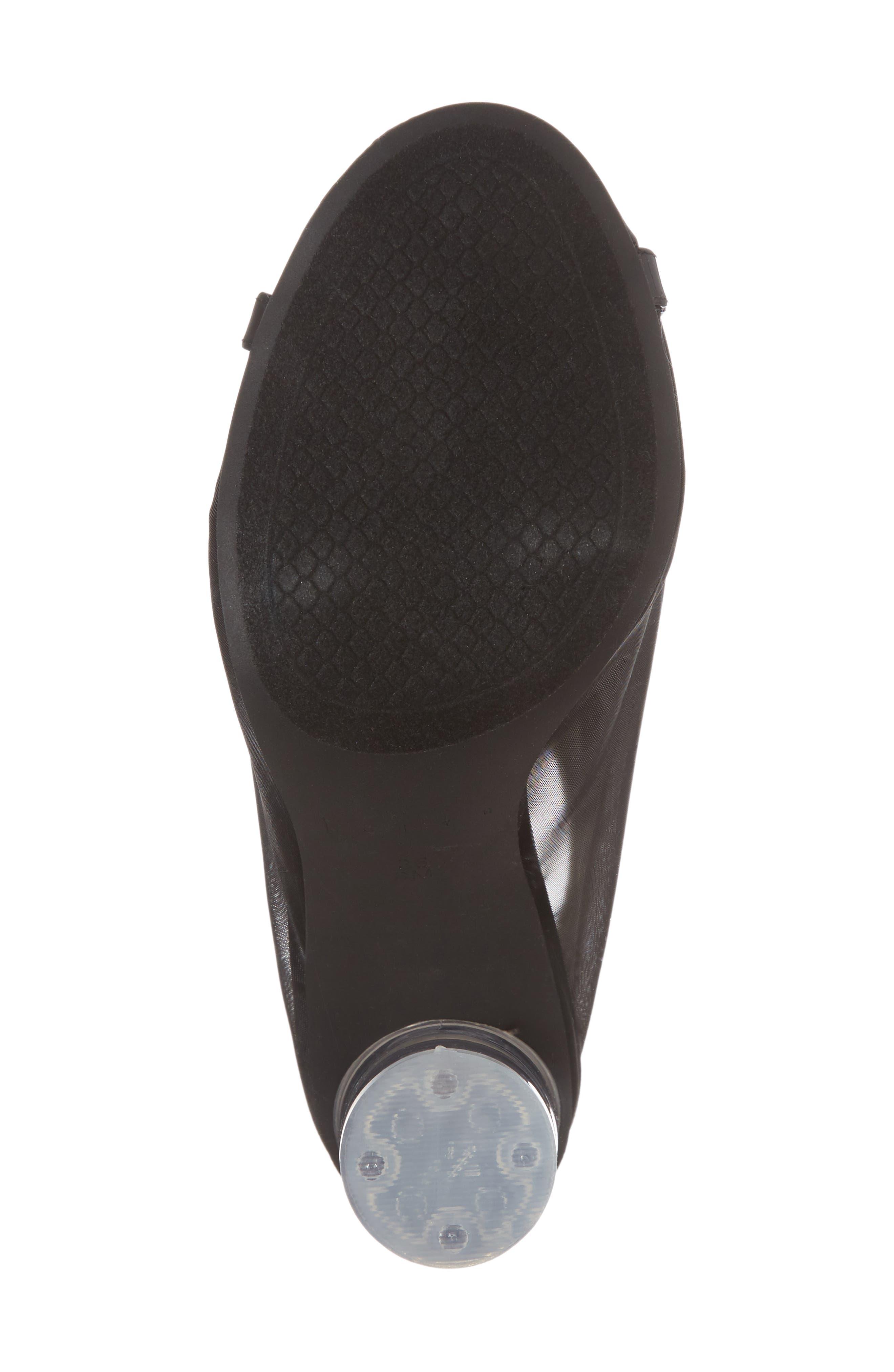 Saber Sandal,                             Alternate thumbnail 6, color,                             Black Mesh
