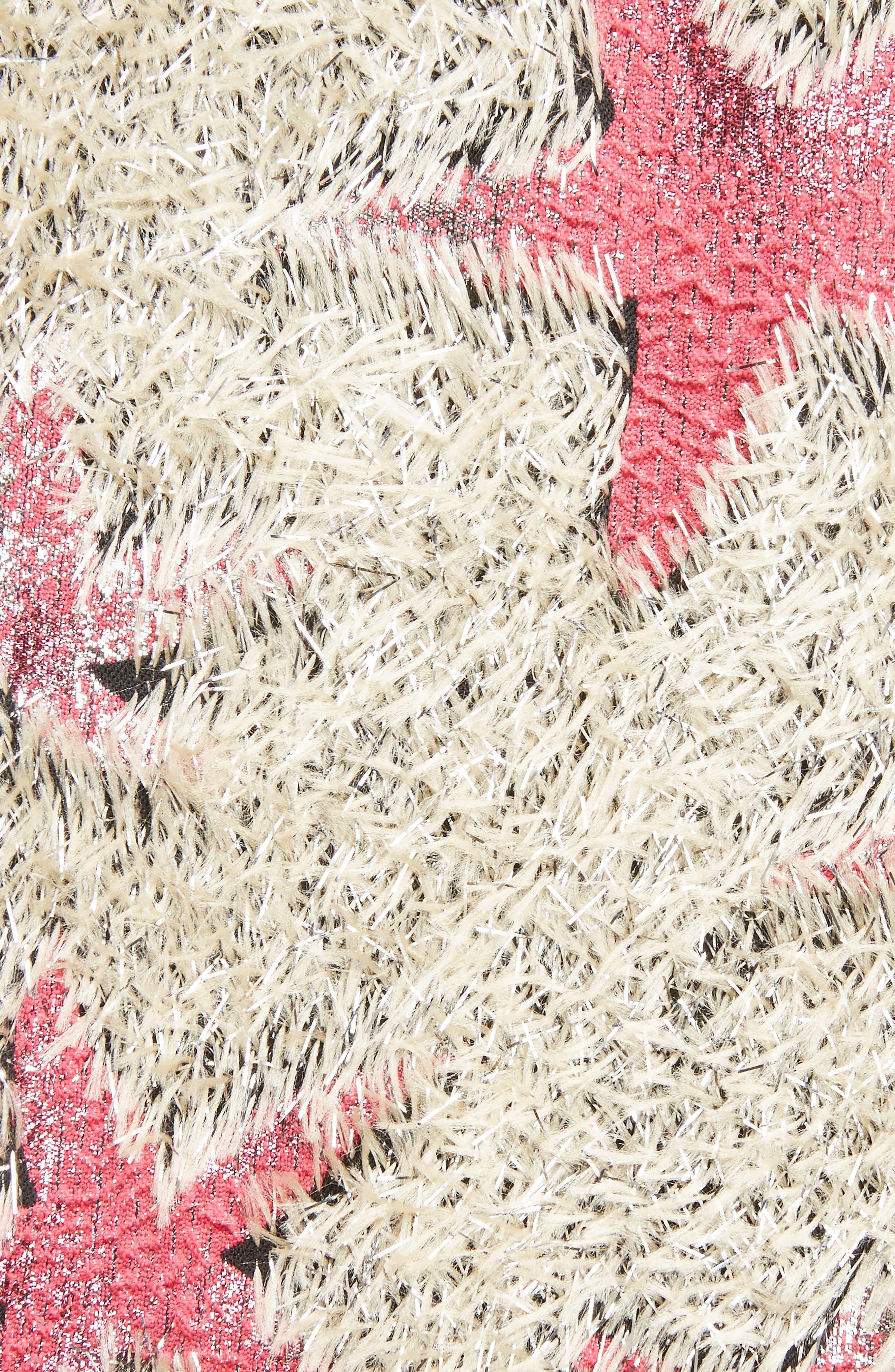 Starfish Shaggy Crop Jacket,                             Alternate thumbnail 5, color,                             Sand