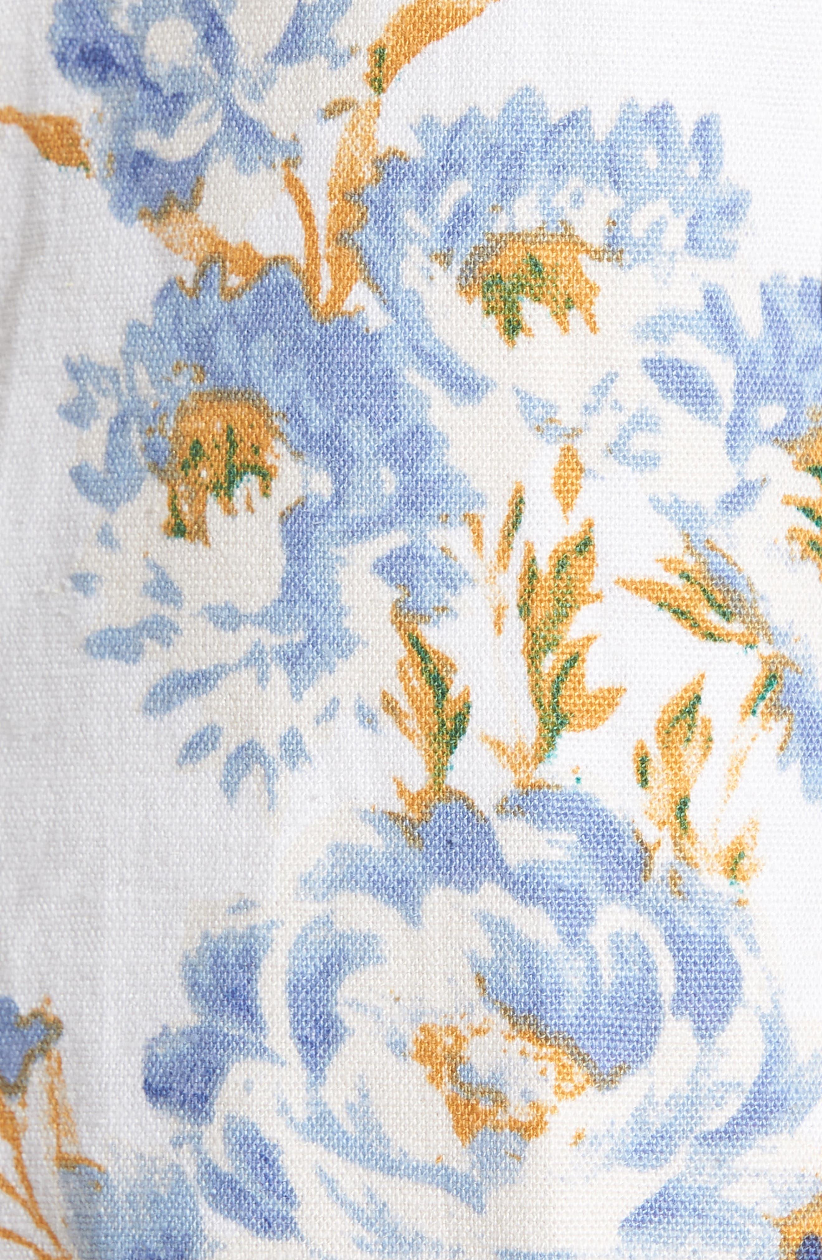 Matera High Waist Shorts,                             Alternate thumbnail 5, color,                             Ivory Floral