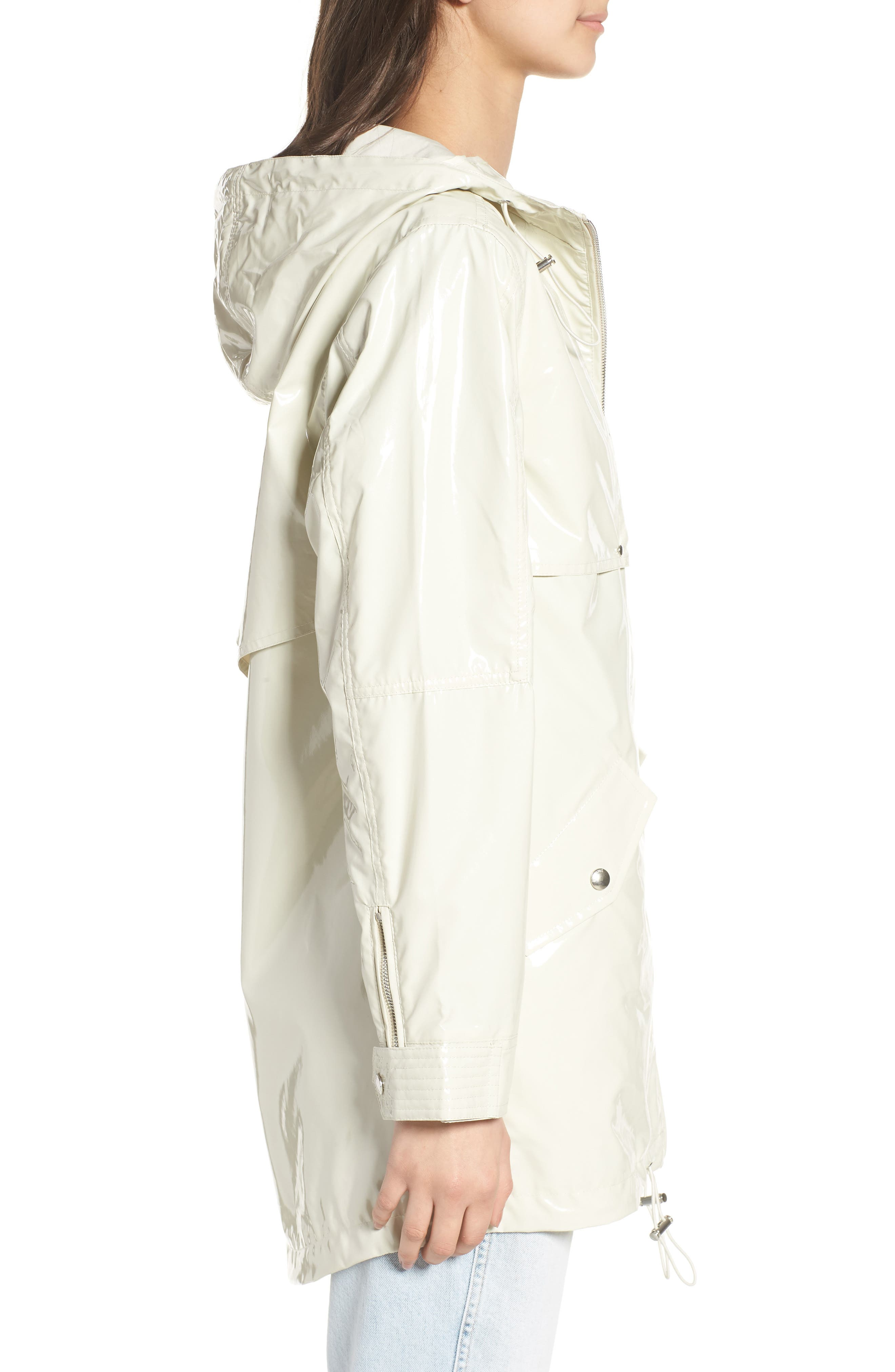 Patent Parka,                             Alternate thumbnail 3, color,                             White Chocolate Bone