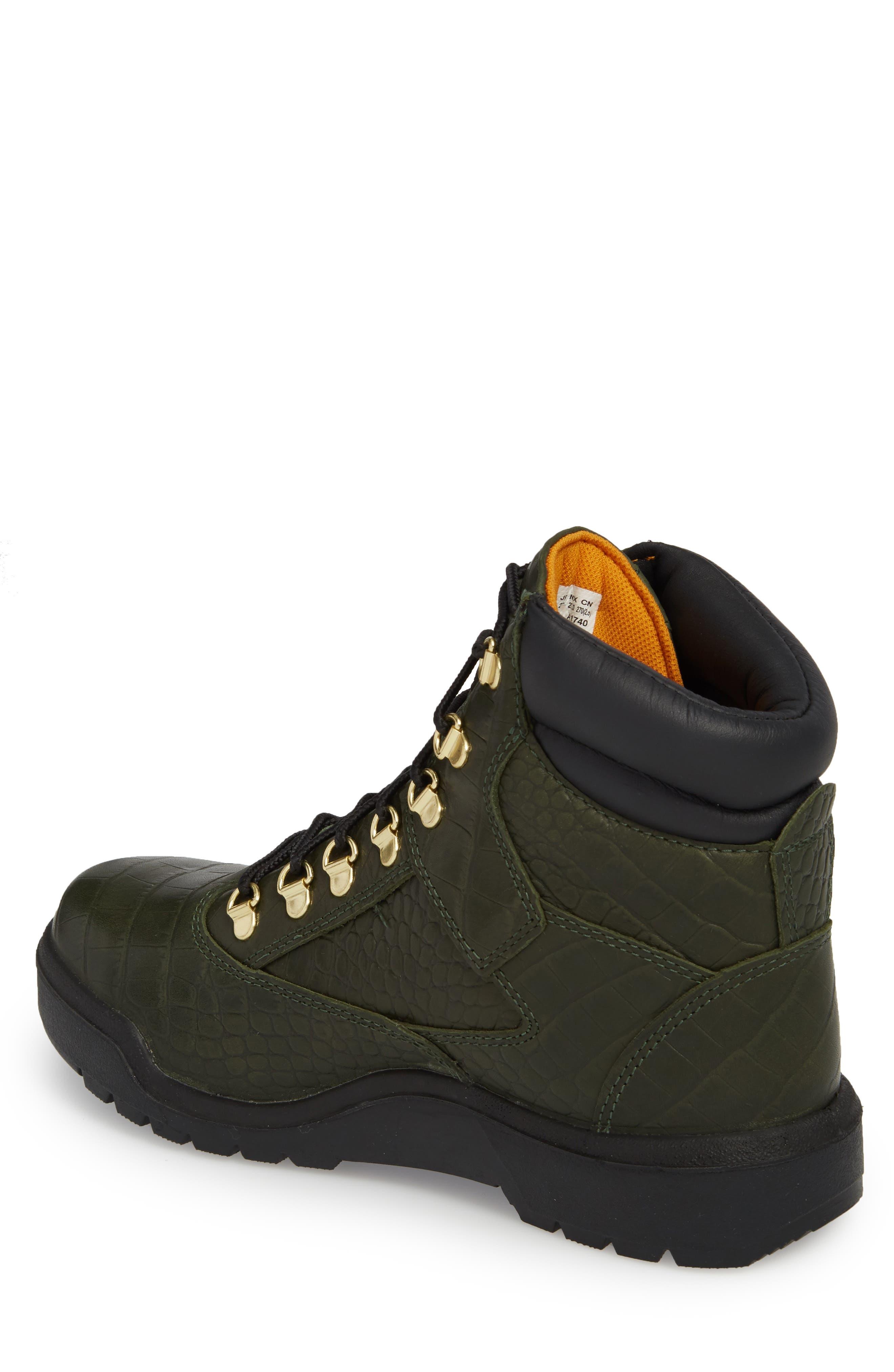 Field Waterproof Boot,                             Alternate thumbnail 2, color,                             Green/ Cardinal Exotic