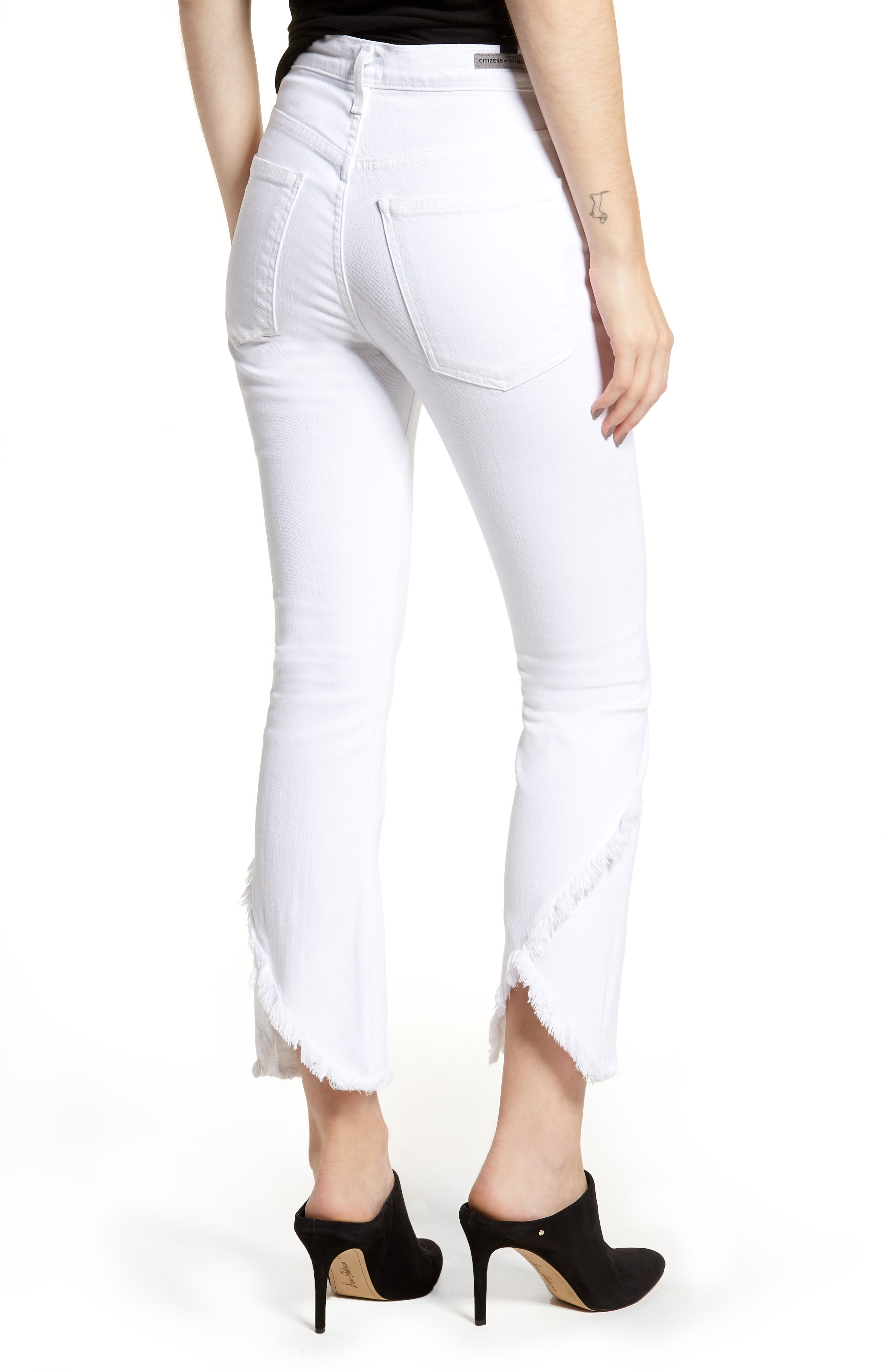 Alternate Image 2  - Citizens of Humanity Drew Flare Jeans (Optic White)