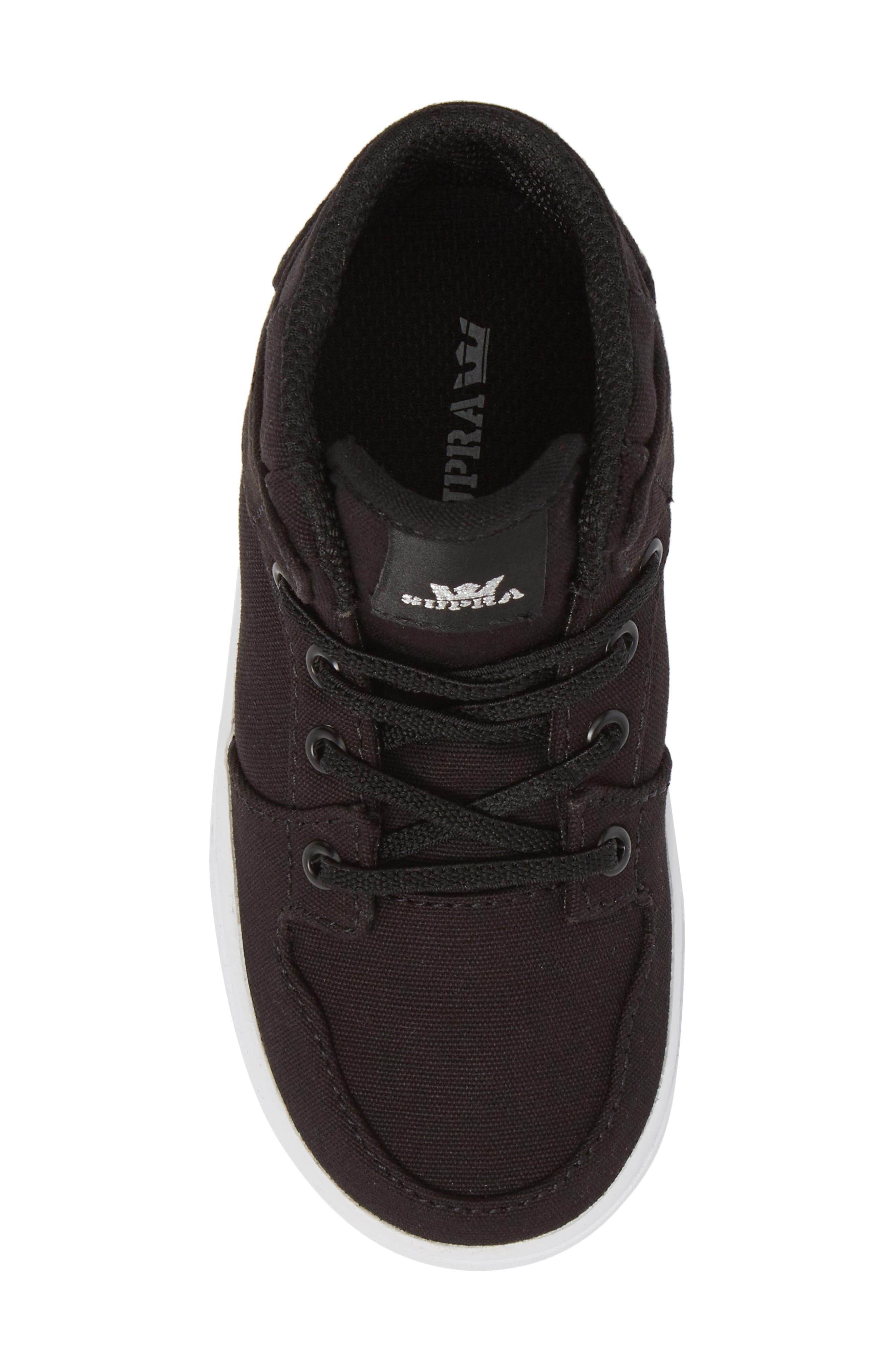 'Vaider' High Top Sneaker,                             Alternate thumbnail 5, color,                             Black/ White
