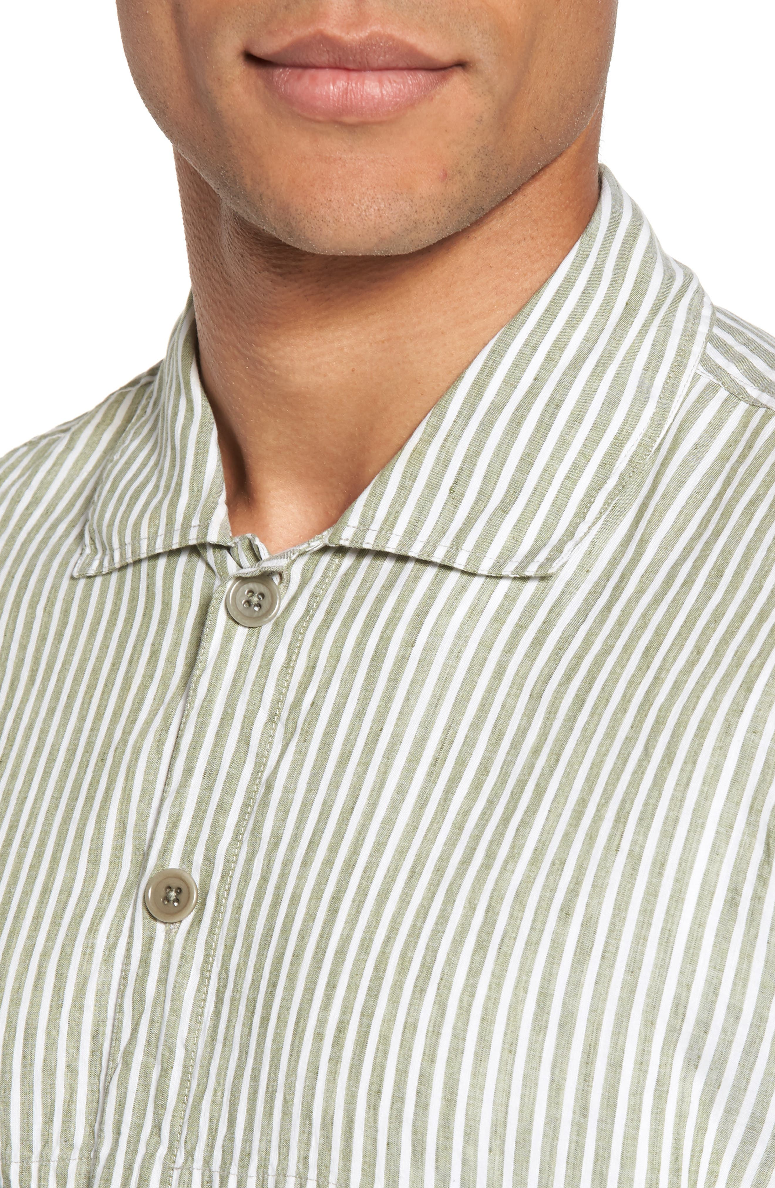 Alternate Image 4  - YMC Doc Savage Regular Fit Sport Shirt