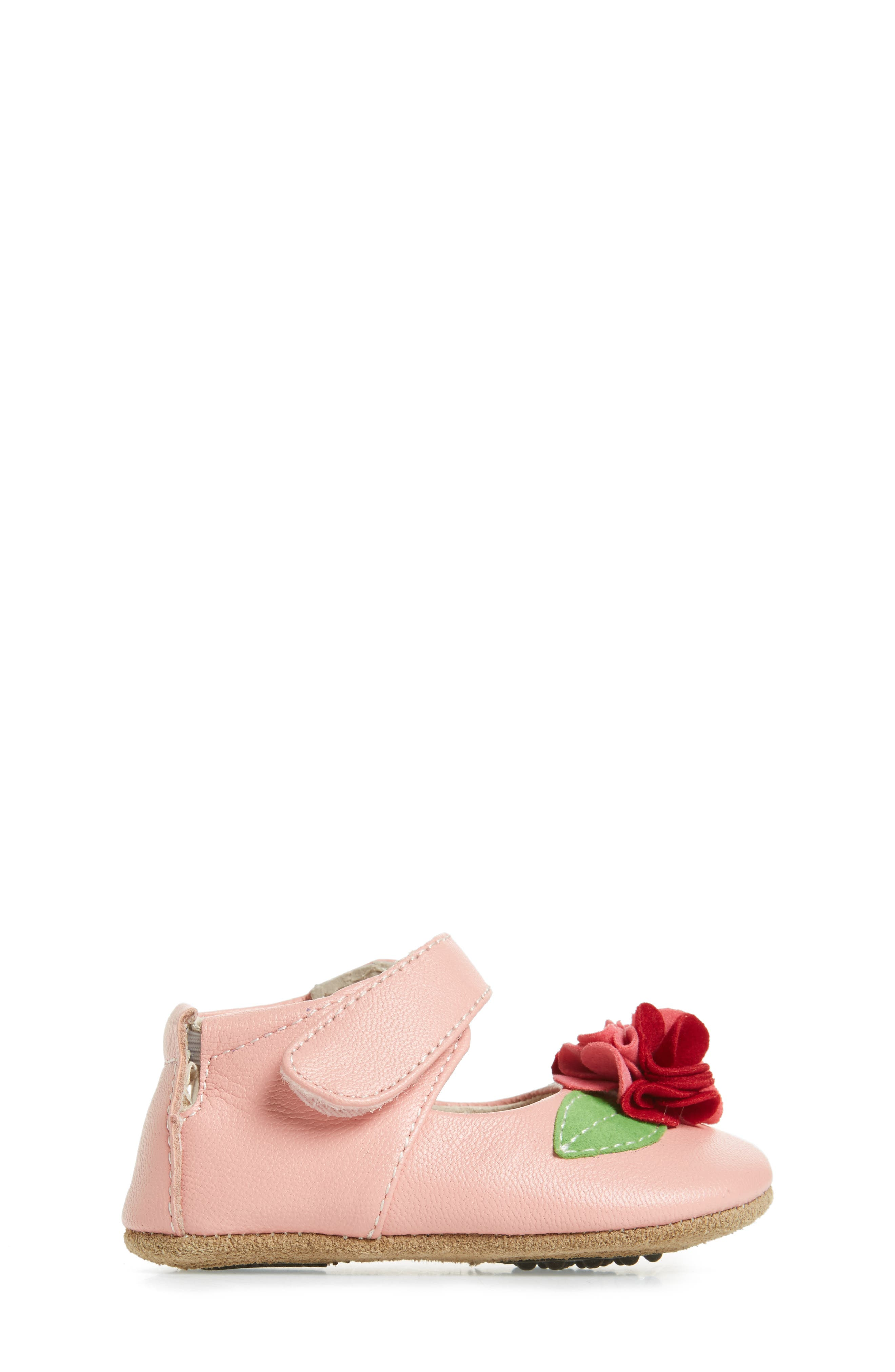 Rosa Mary Jane Crib Shoe,                             Alternate thumbnail 3, color,                             Light Pink
