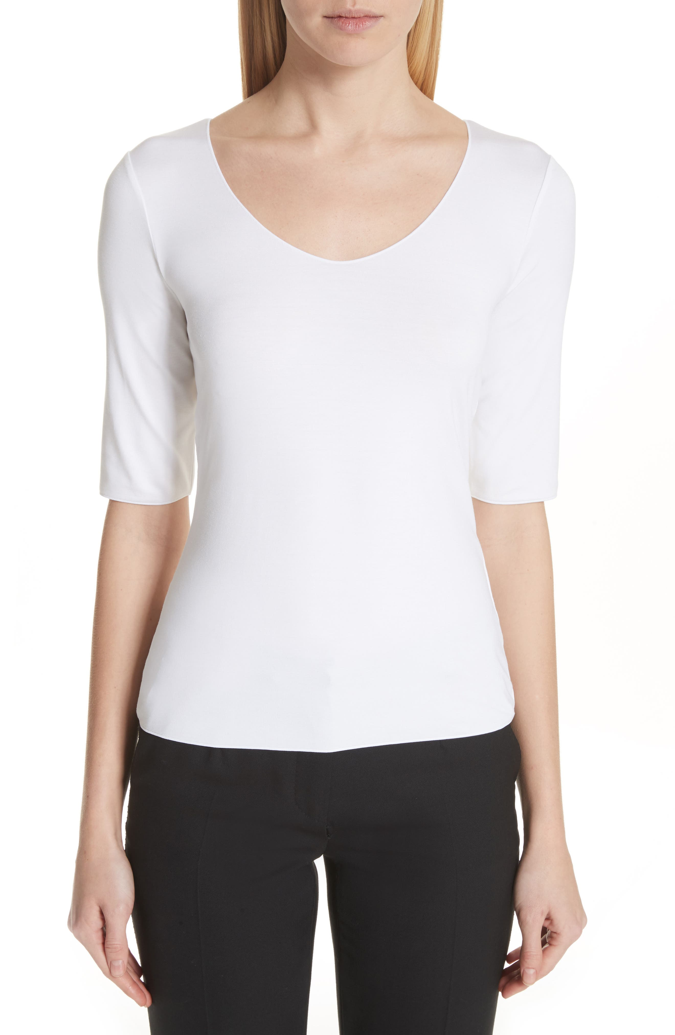 Alternate Image 1 Selected - Emporio Armani Stretch Knit Top