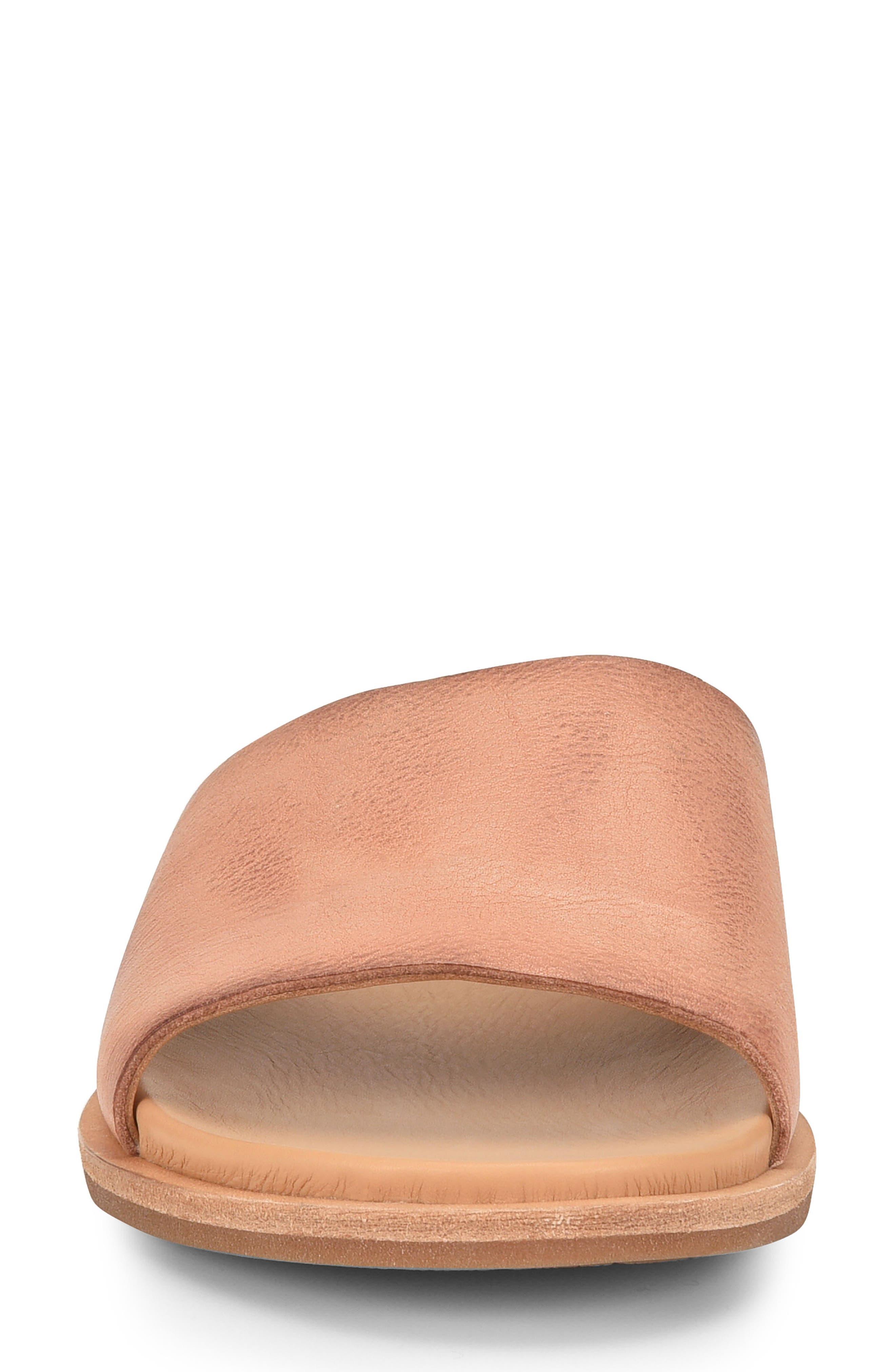 Gila Slide Sandal,                             Alternate thumbnail 4, color,                             Blush Leather