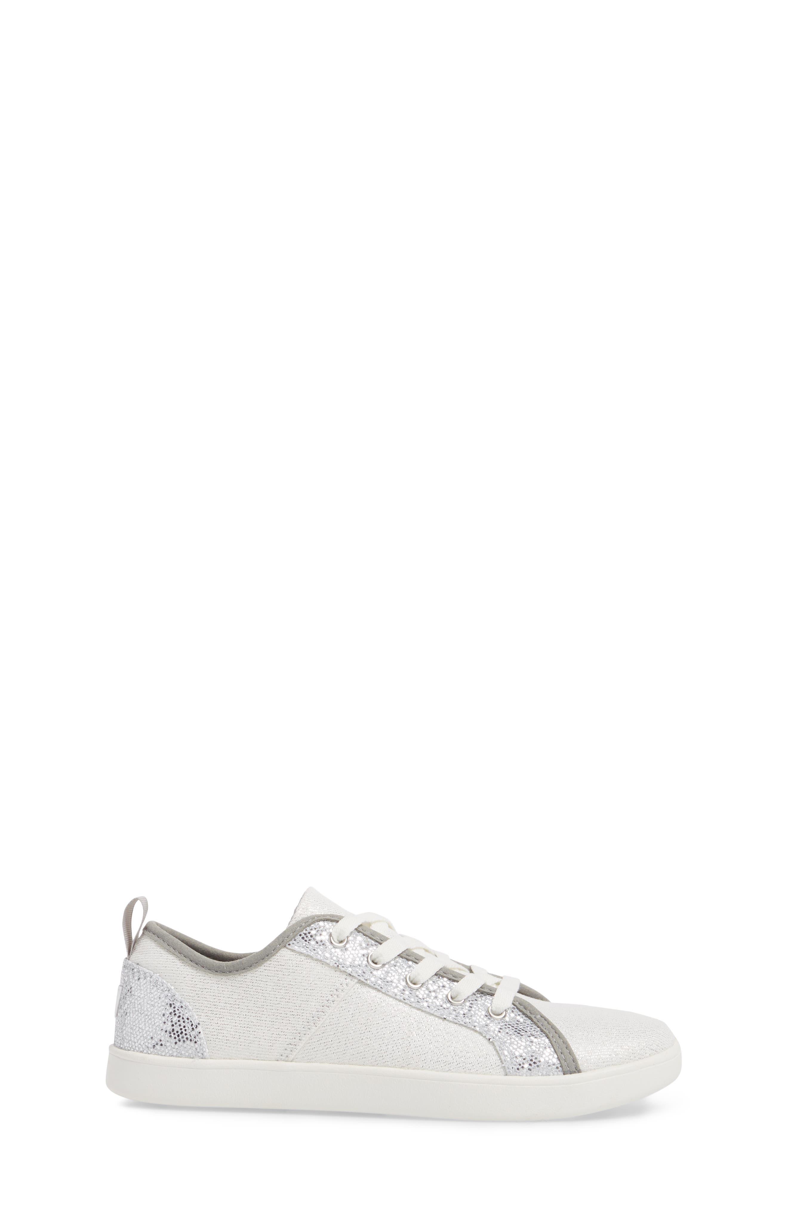 Irvin Sparkles Metallic Sneaker,                             Alternate thumbnail 3, color,                             Silver