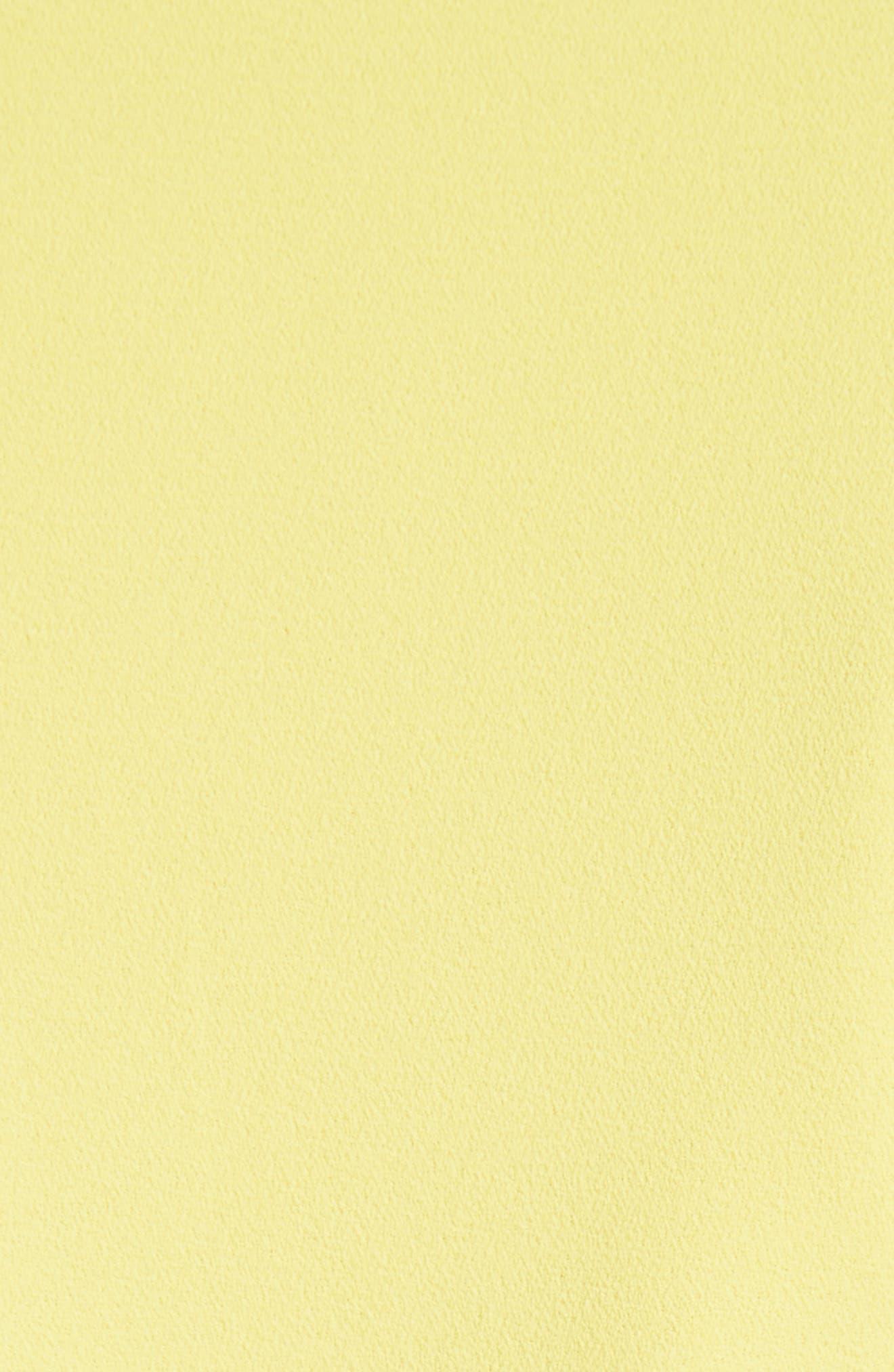 Ashlea Flutter Sleeve Romper,                             Alternate thumbnail 5, color,                             Lemon