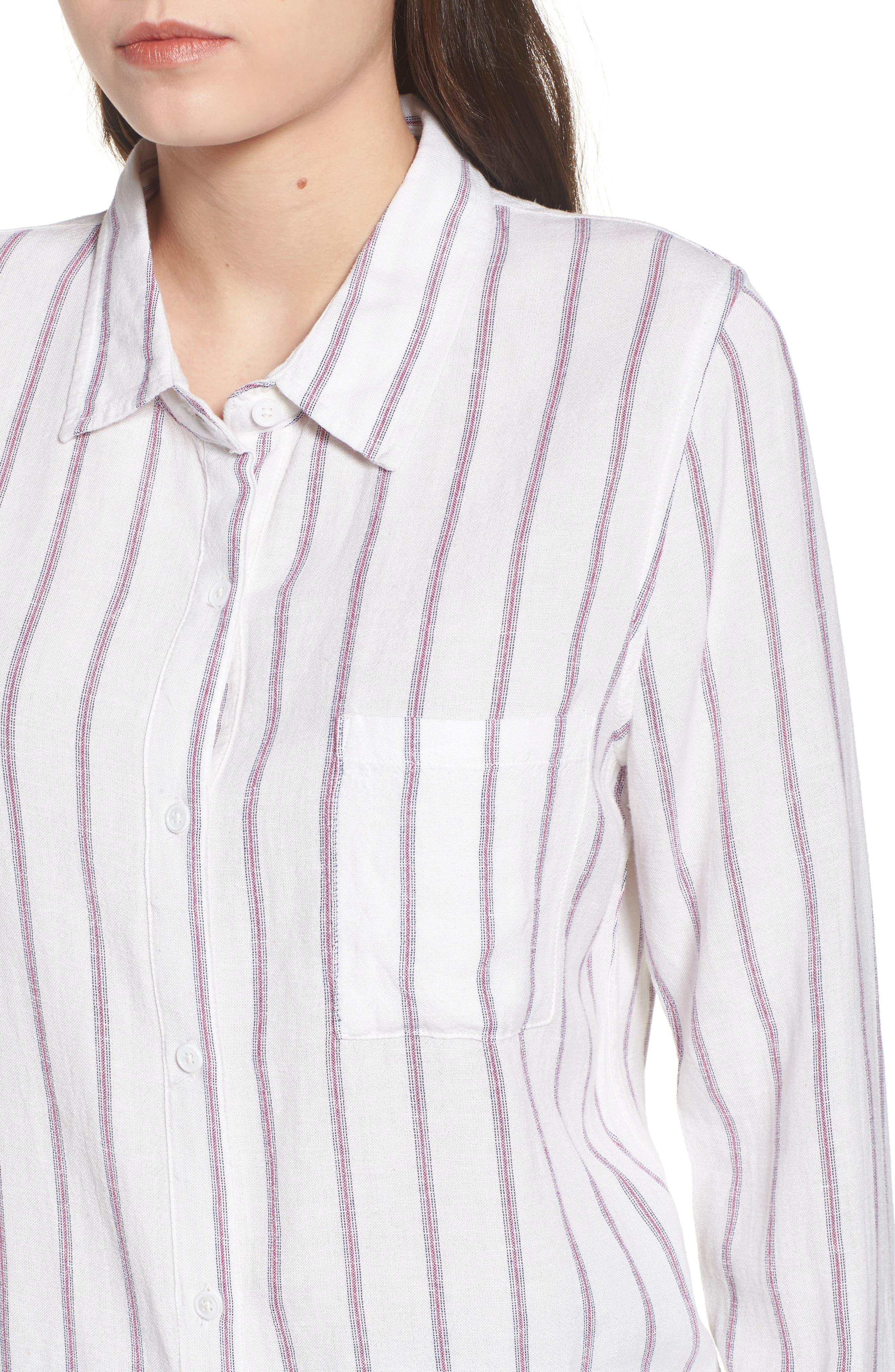 Rose Stripe Shirt,                             Alternate thumbnail 4, color,                             Red Stripe
